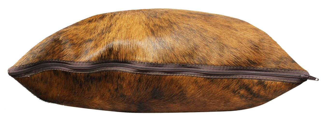 Brindle Authentic Cowhide Throw Pillow Cover Size: 22