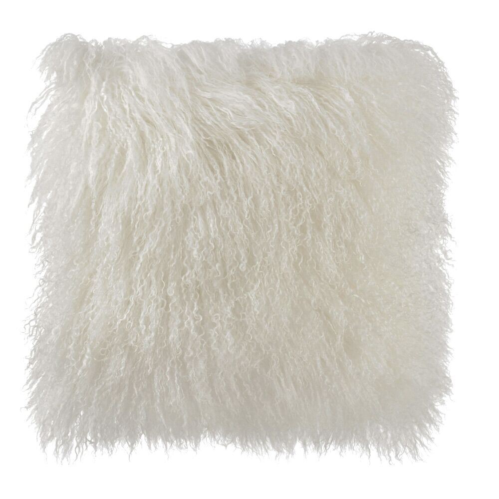 Samson Tibetan Wool Pillow Cover Color: White