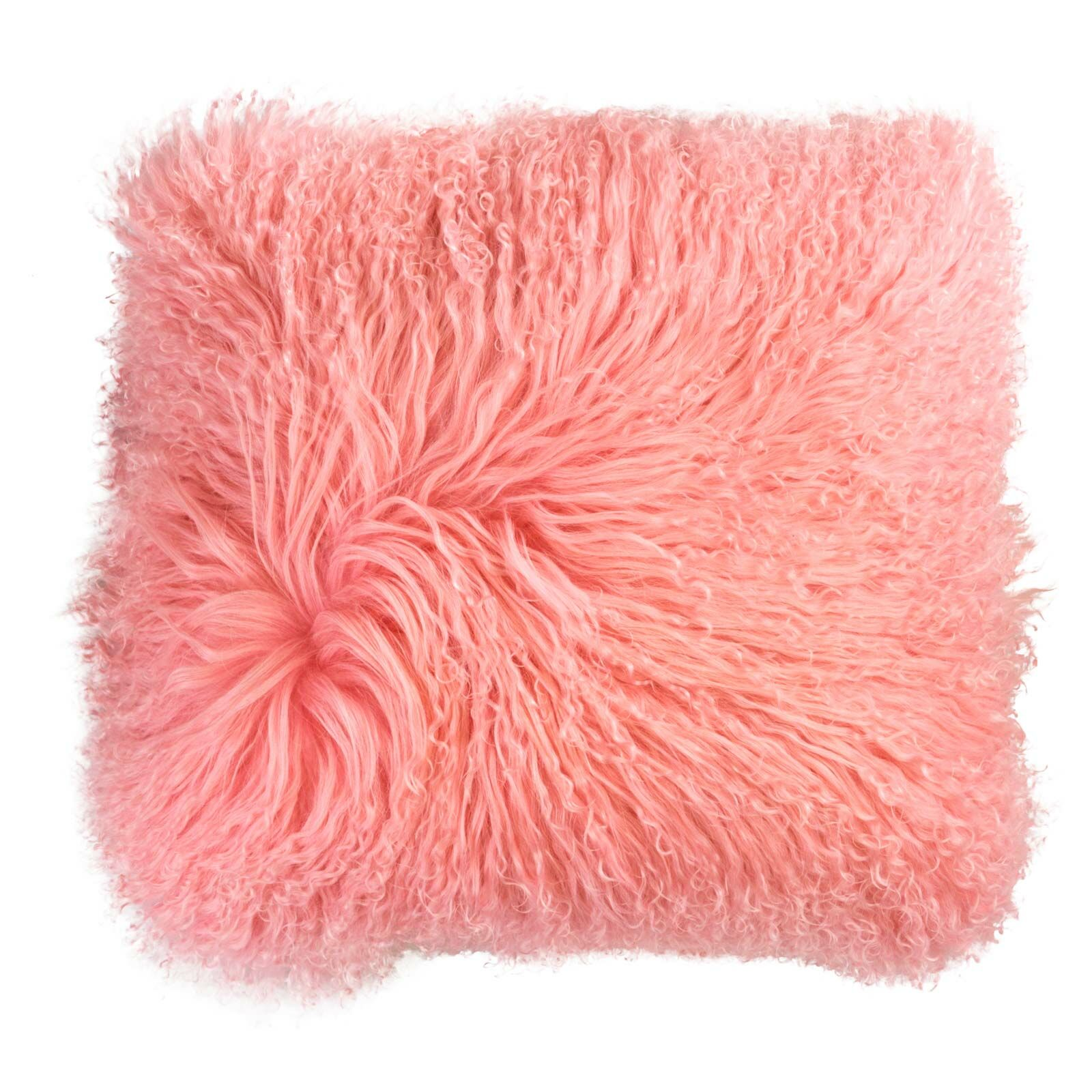 Samson Tibetan Wool Pillow Cover Color: Pink