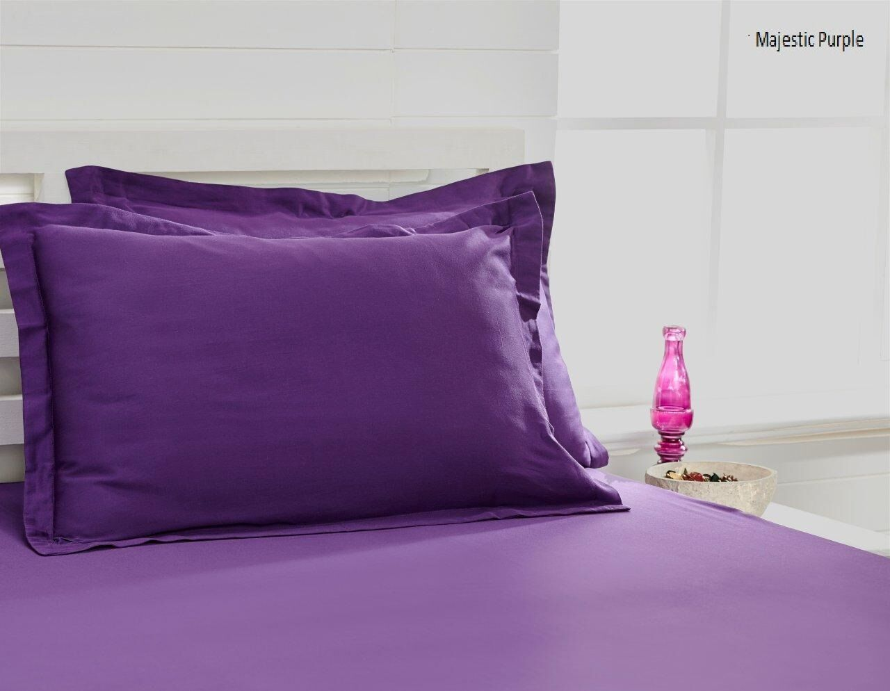 300 Thread Count 100% Cotton Sheet Set Size: King, Color: Majestic Violet