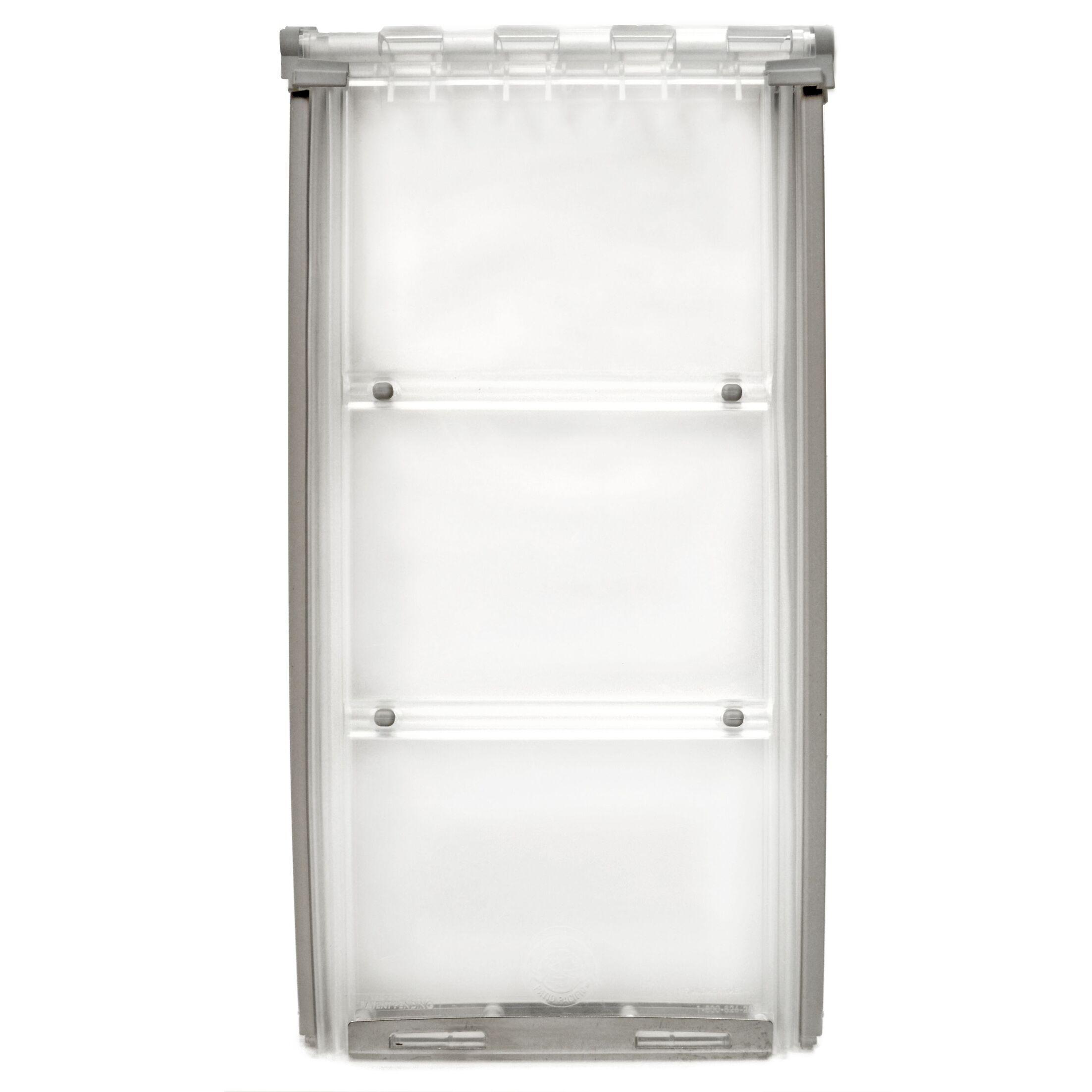 Endura Flap Thermo Panel 3E Pet Door Color: White, Flap Size: Large, Frame Size: 93.25