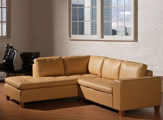 Allegro Leather Sectional Upholstery Color: Distressed Brown, Leg Finish: Espresso, Orientation: Left Hand Facing
