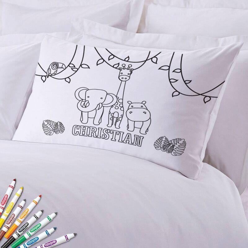 Add Color Kids Friendly Animals Custom Pillow Case