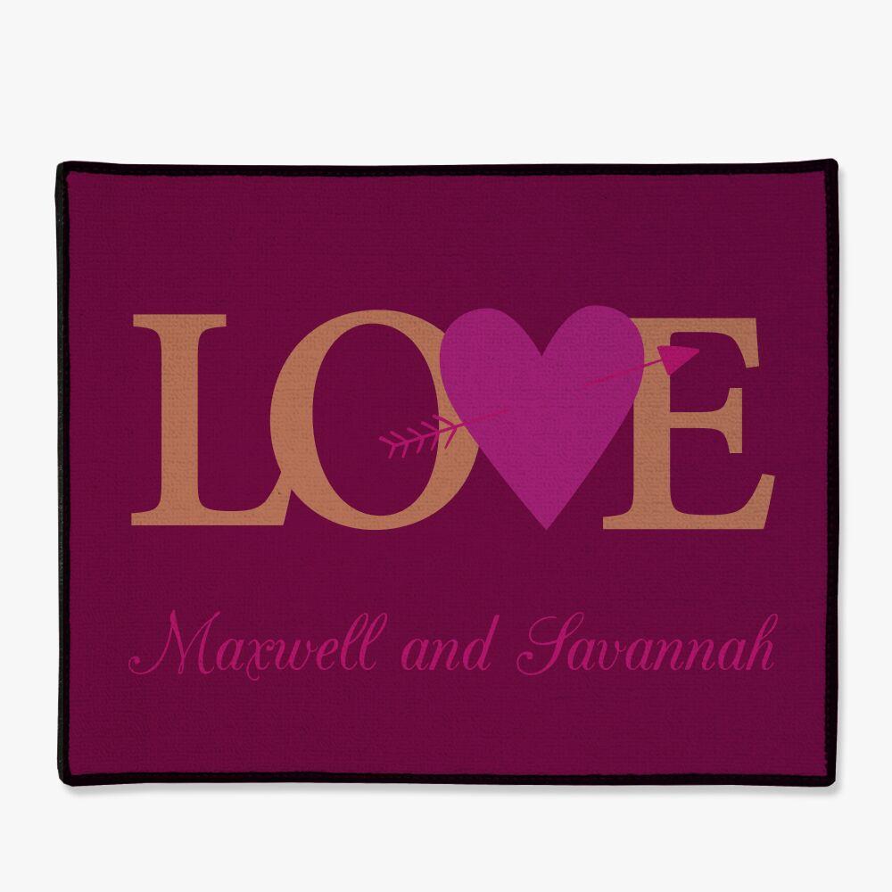 Personalized Couples Love Doormat