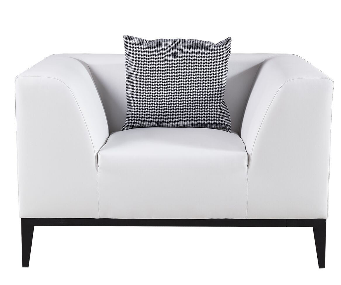 Olivia Armchair Upholstery: White