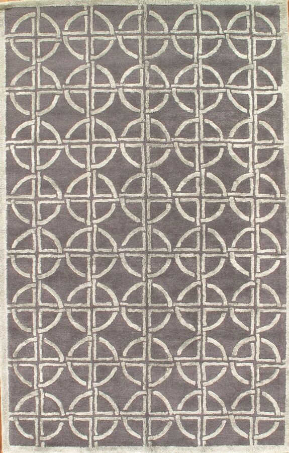 Hand-Knotted Brown Area Rug
