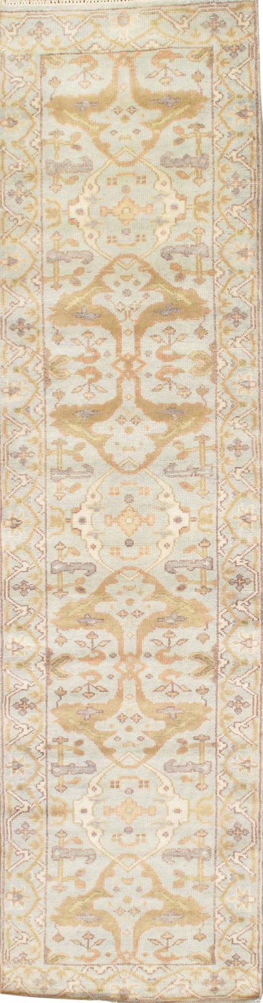 Hand Knotted Wool Ivory Area Rug