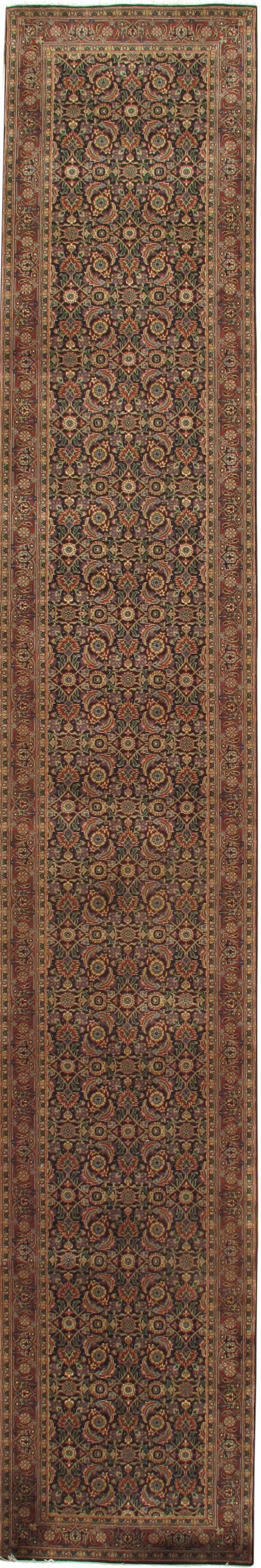 Indo Hand Knotted Wool Gold/Brown Area Rug