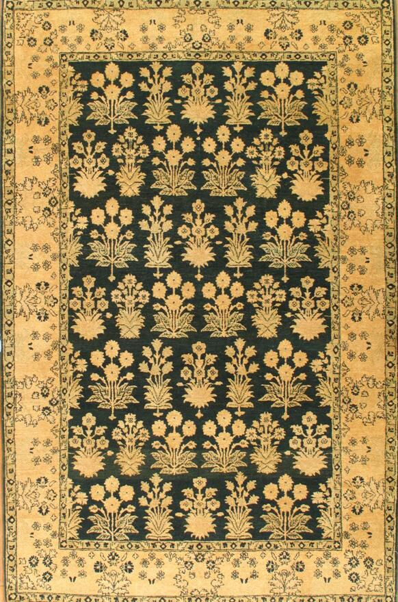 One of a Kind Hand-Woven Wool Beige Area Rug