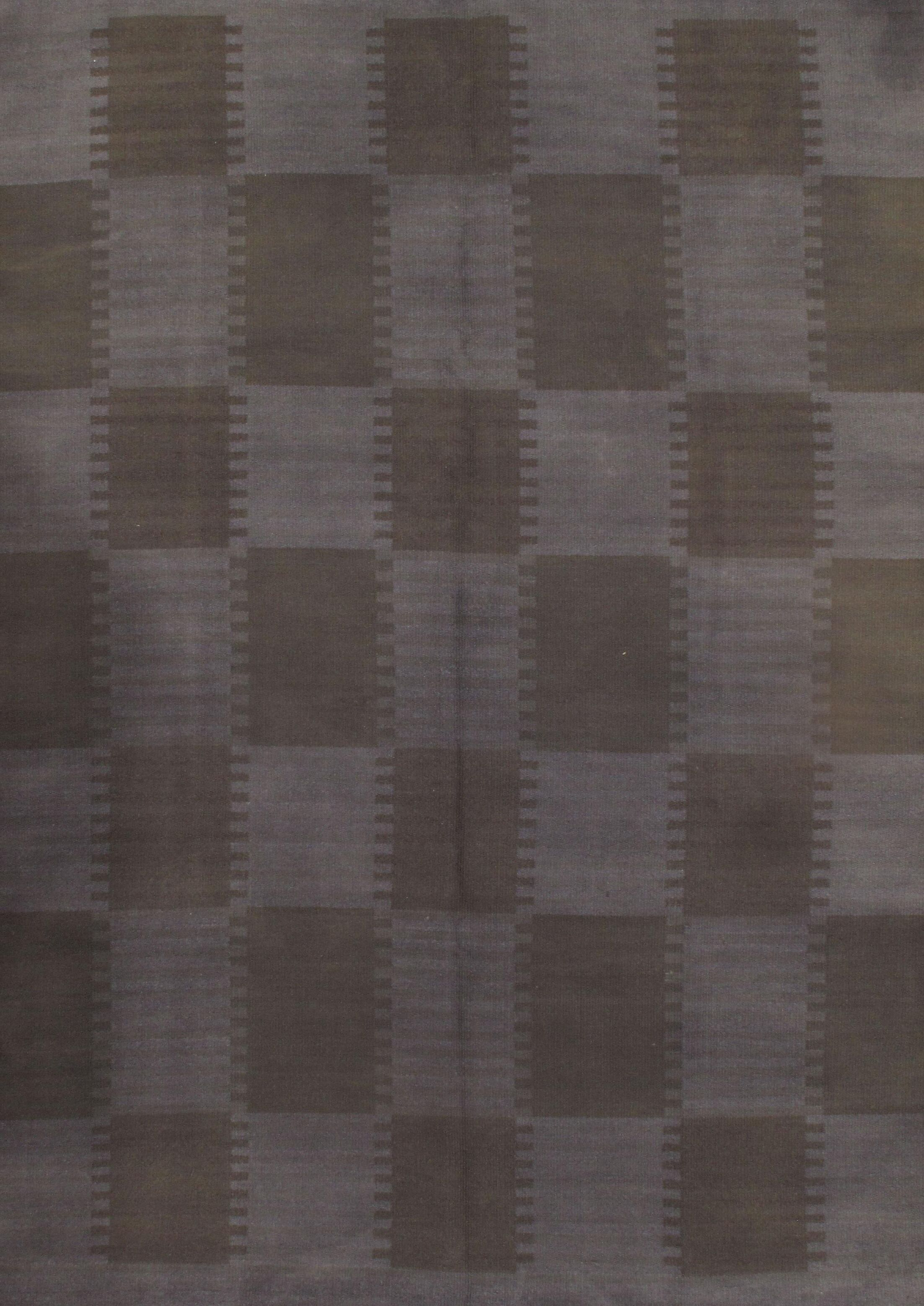 Scandinavian Hand-Knotted Wool Gray/Brown Area Rug