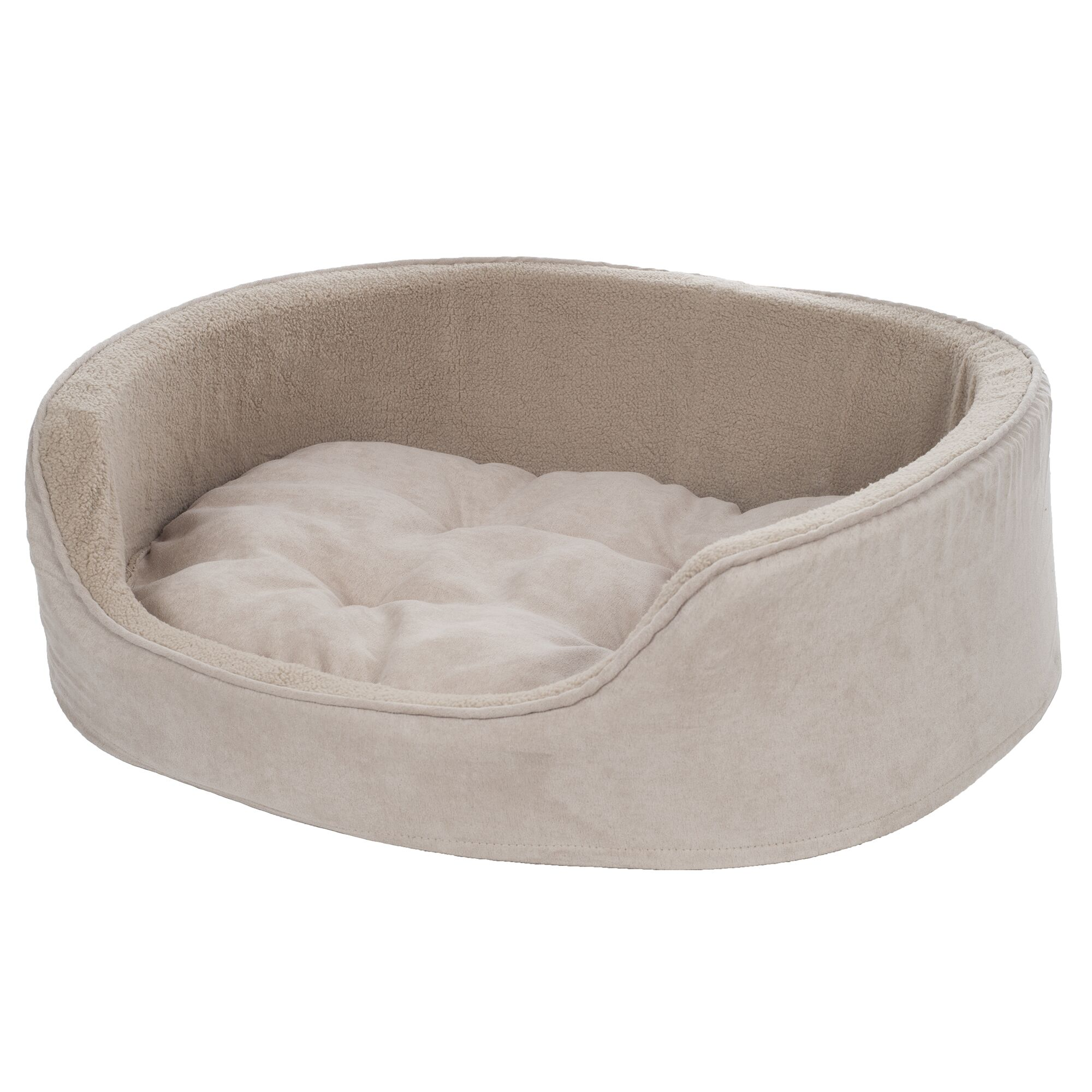 Microsuede Pet Bolster with Zippered Closure Size: Small (23