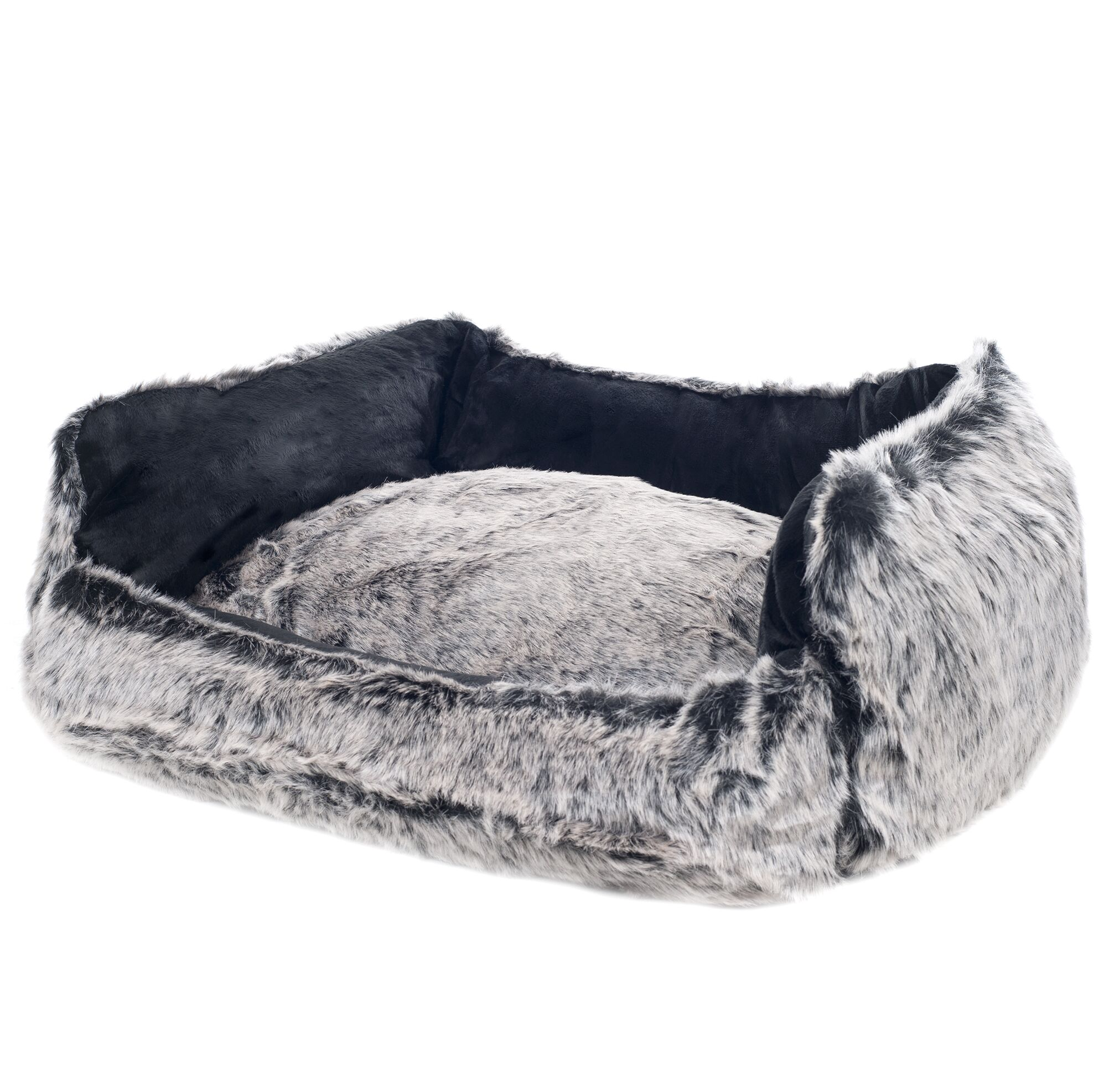 Clarence Faux Fur Dog Bolster with Removable Cover Size: Large (27