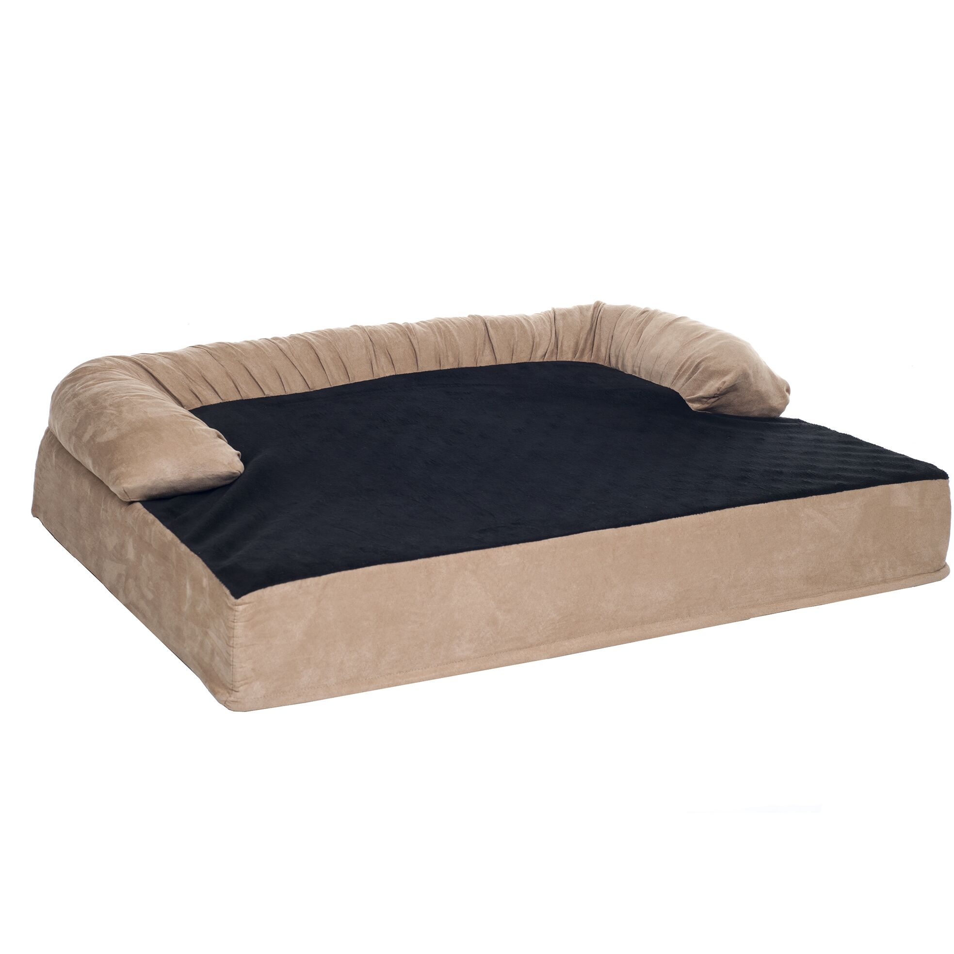 Casper Orthopedic Memory Foam Pet Bolster Bed with Removable Plush Memory Foam Size: Medium (35.5