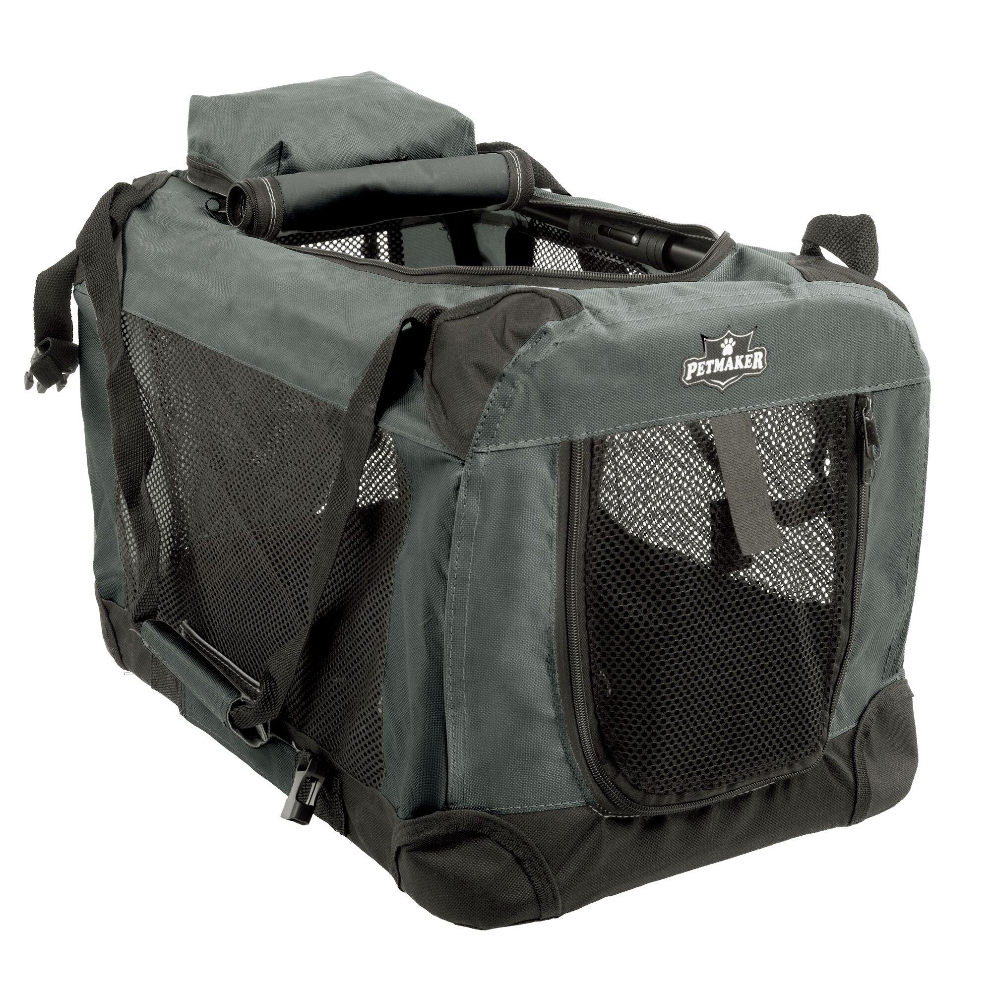 Soft Sided Pet Crate Color: Khaki, Size: 12.5