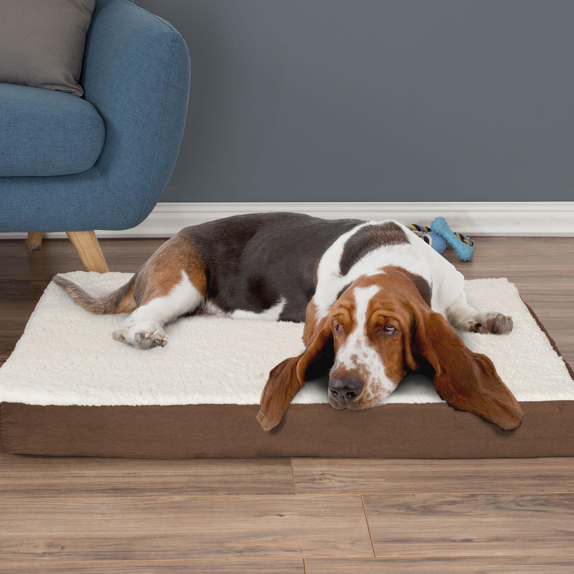Orthopedic Sherpa Memory Foam Dog Mat Size: Large (4