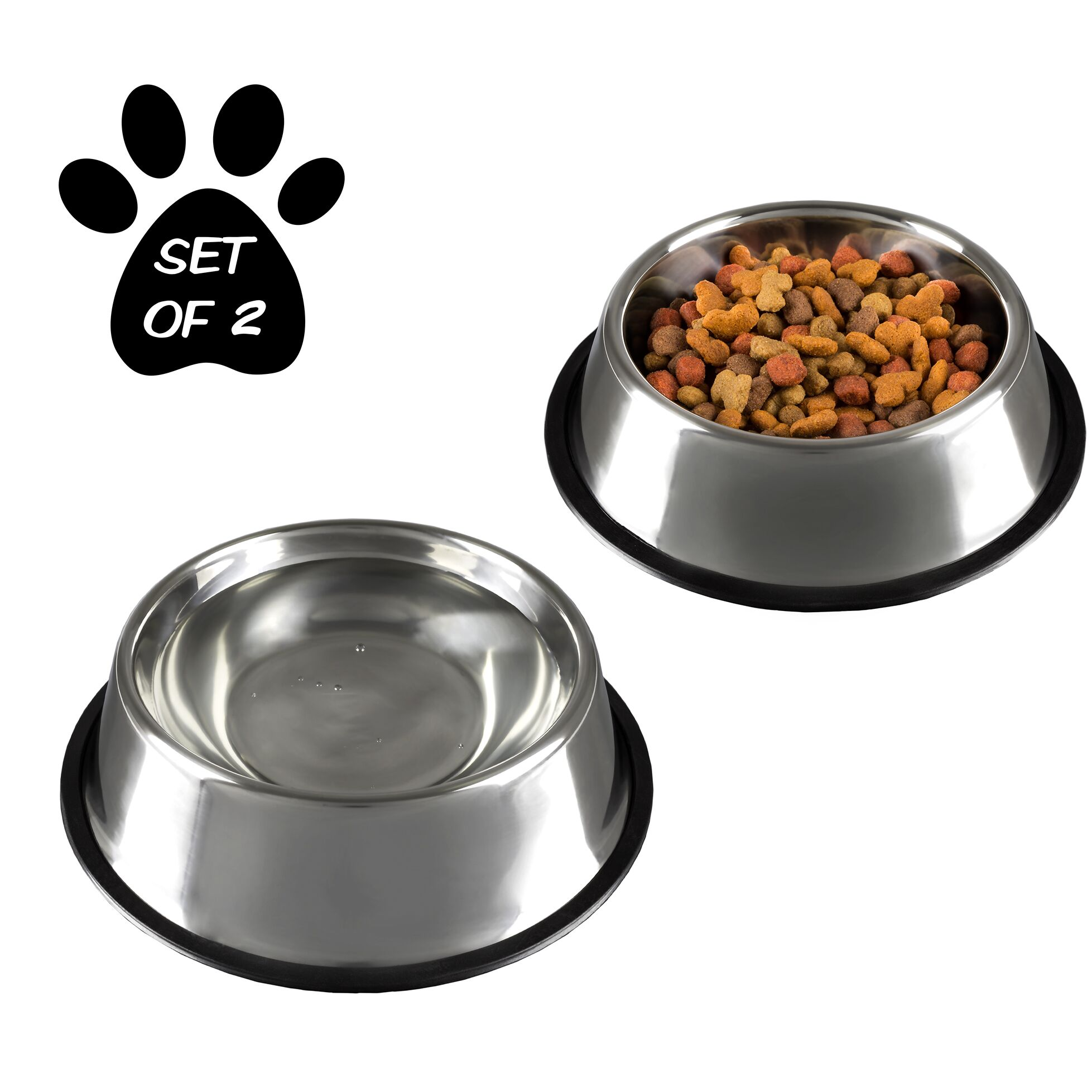 Stainless Steel Non-Slip Pet Bowl Size: 28 oz