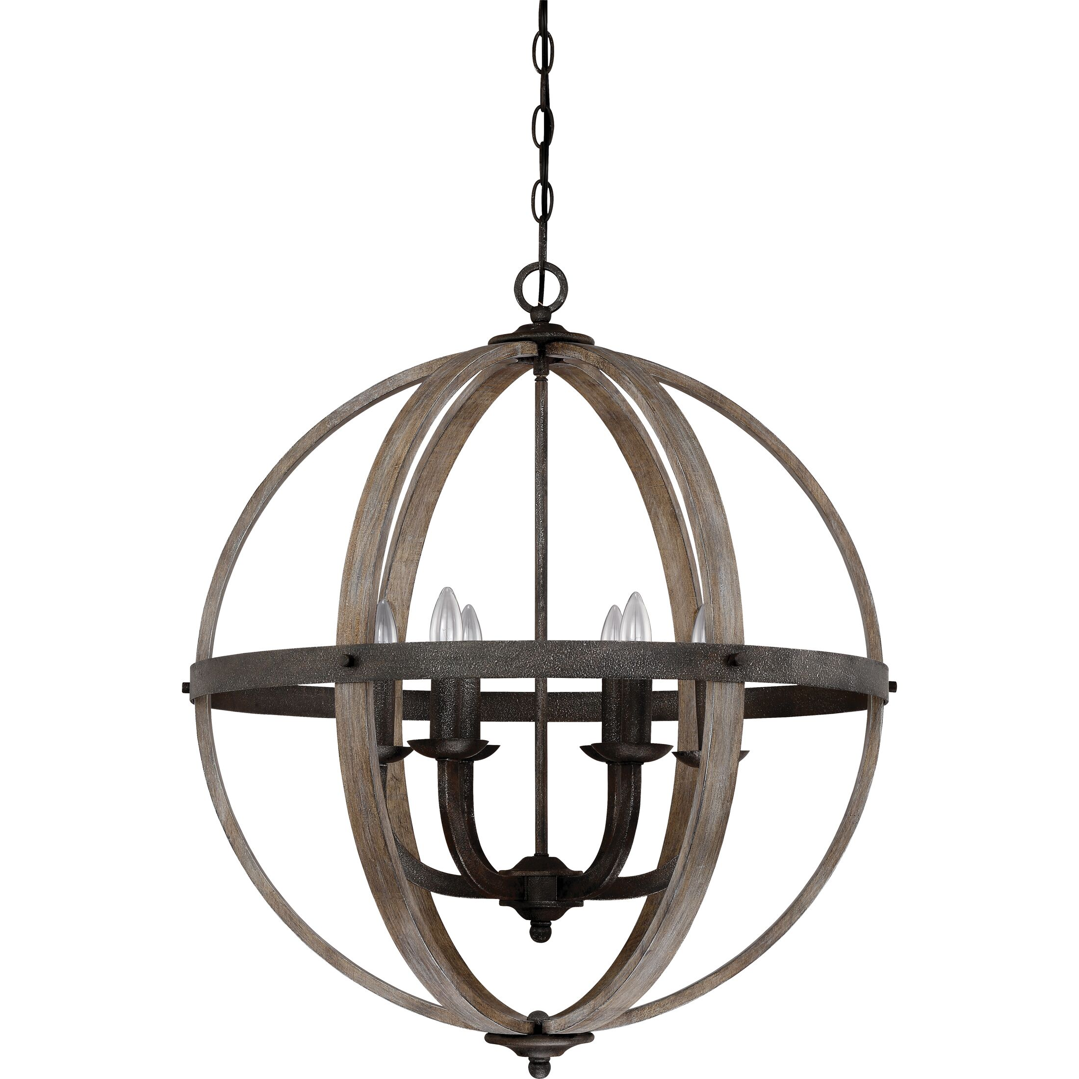 Burrill 6-Light Pendant Finish: Rustic Black