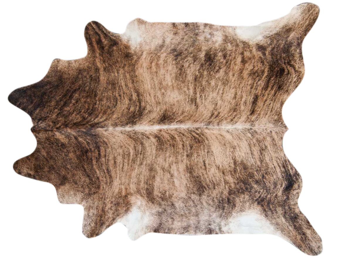 Brindle Hand Woven Cowhide Black/Brown Area Rug Rug Size: 7' x 6'