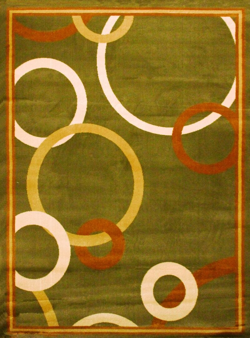 Elif/Passion Green Area Rug Rug Size: 5'3