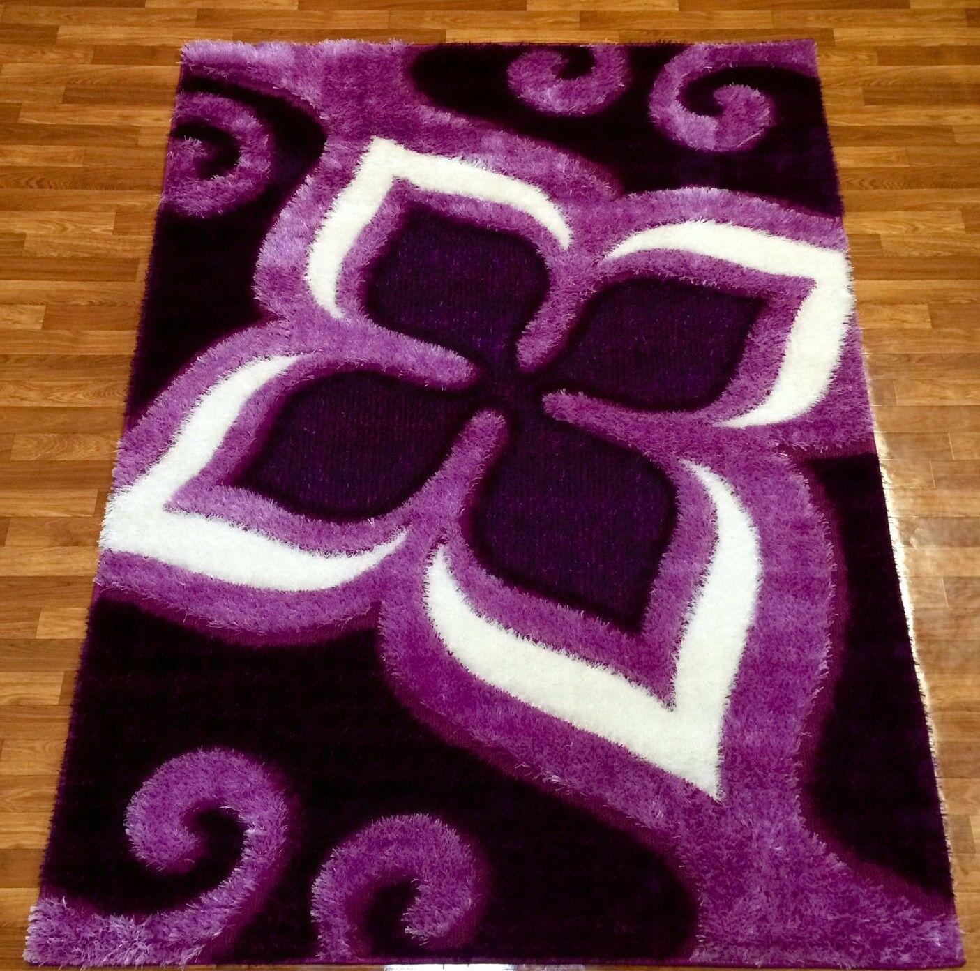 Gloria Purple Area Rug Rug Size: 7'10
