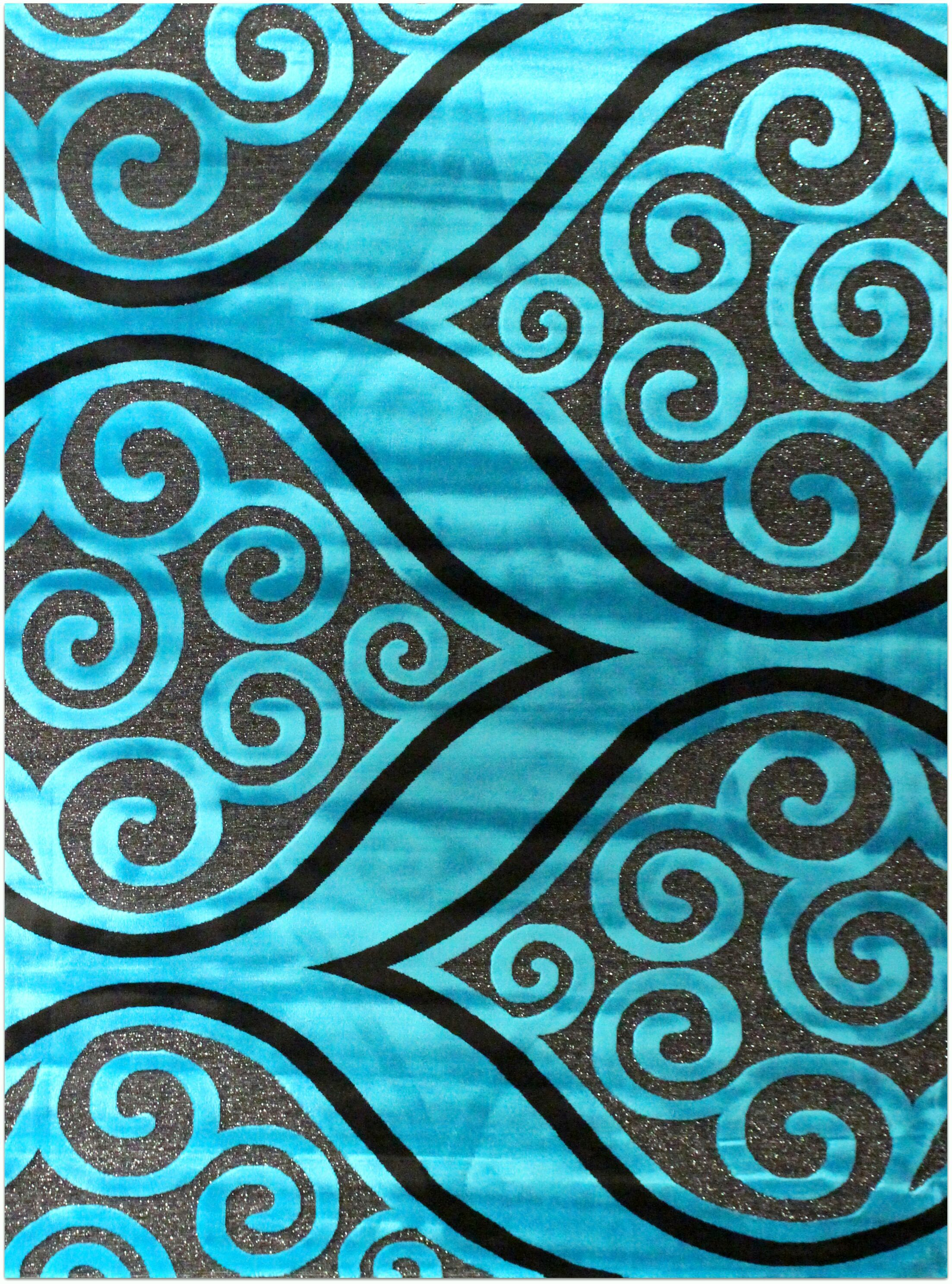 Shonil Blue Area Rug Rug Size: 7'10