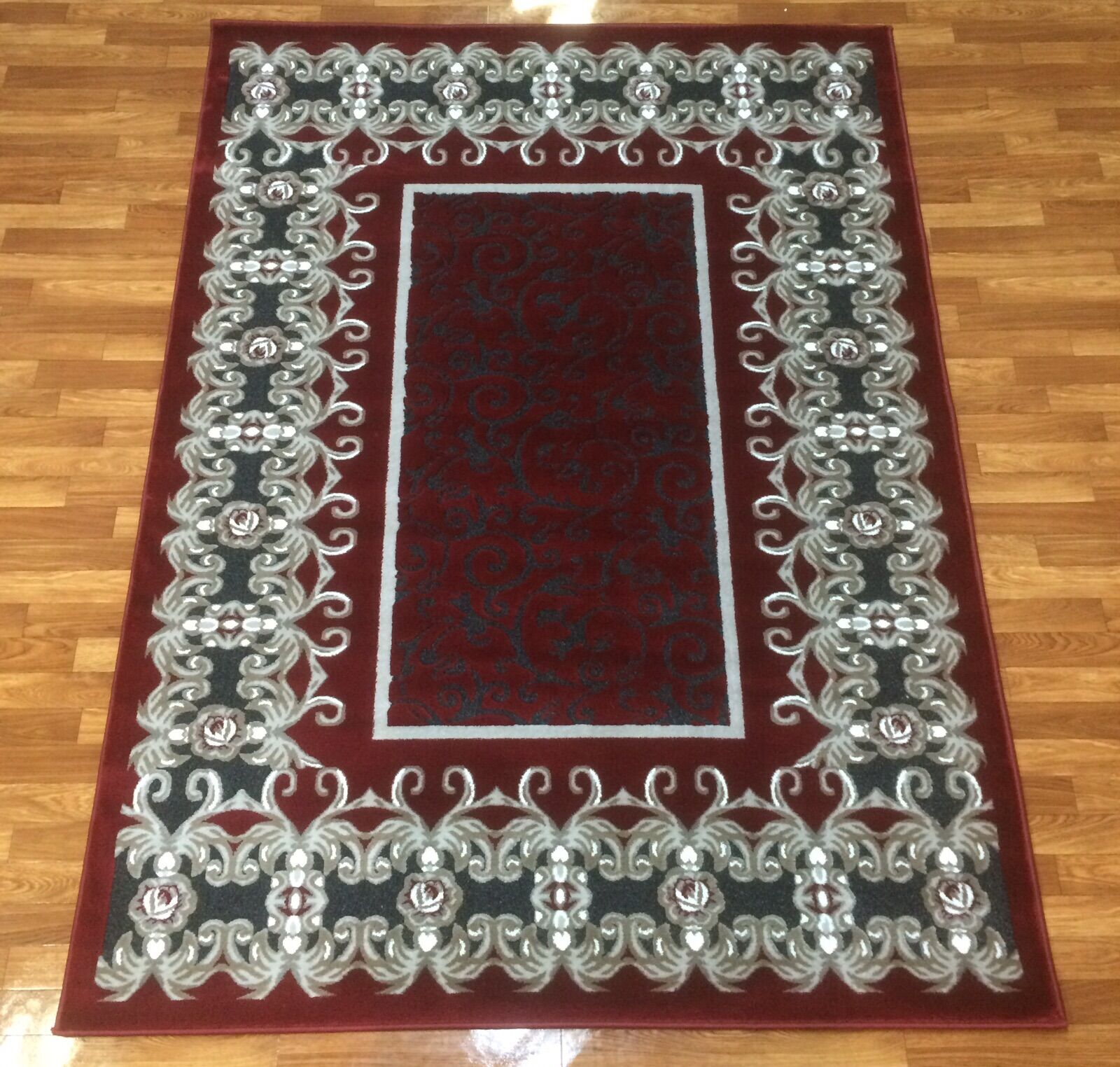 Crystal Red Area Rug Rug Size: 5'3