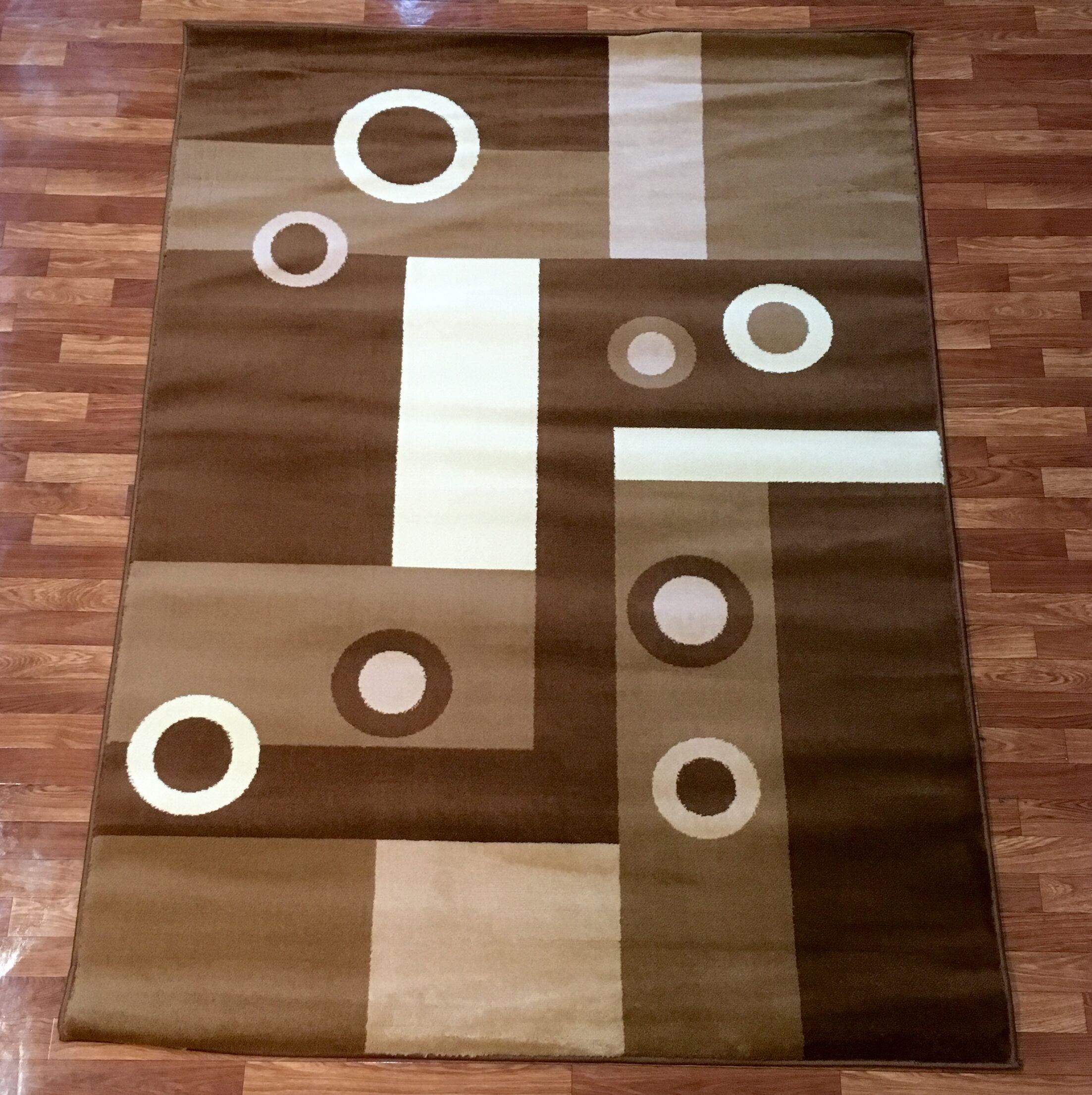 Super Mega Brown Area Rug Rug Size: 5'3'' x 7'3''