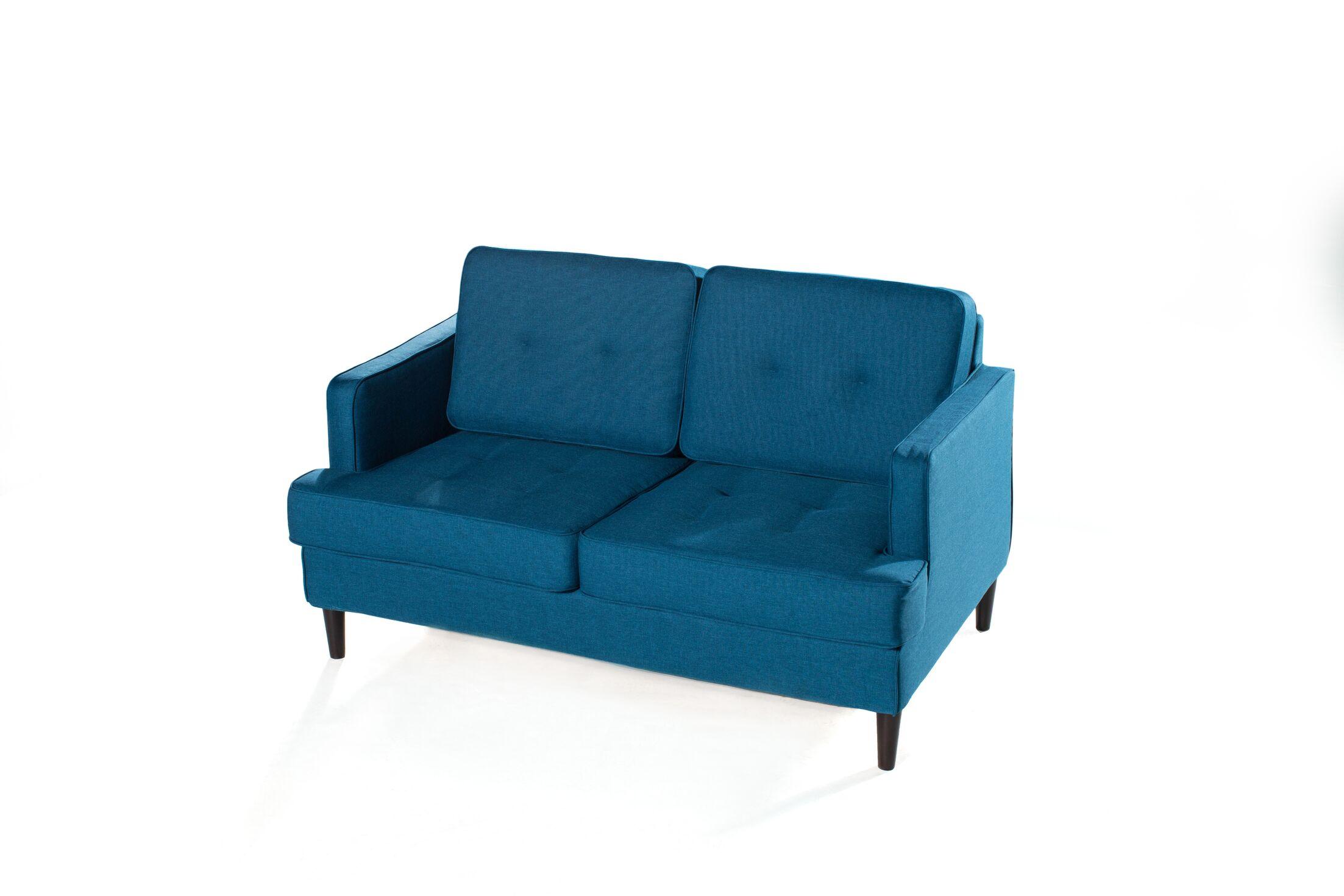 Chingford Standard Loveseat Upholstery: Peacock