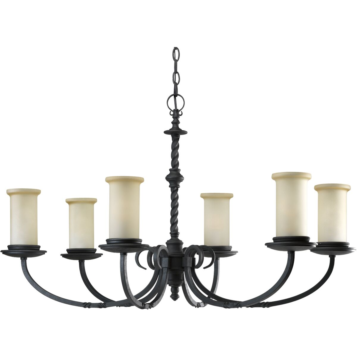 Jakes 6-Light Shaded Chandelier Color: Forged Black