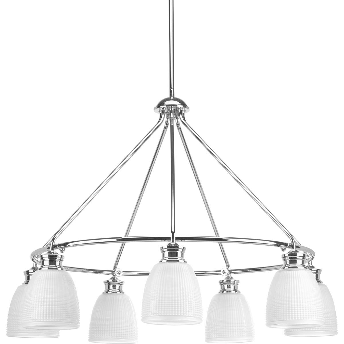 Feissal 7-Light Shaded Chandelier Finish: Polished Chrome