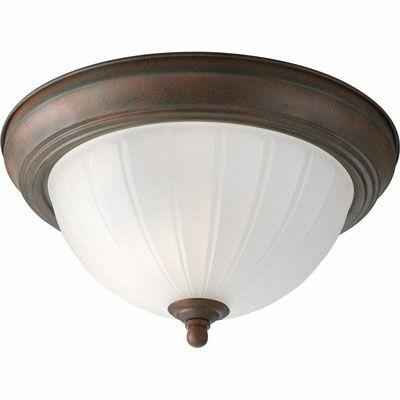 1 Light Semi Flush Mount Bulb Type: Medium Base, Finish: Antique Bronze