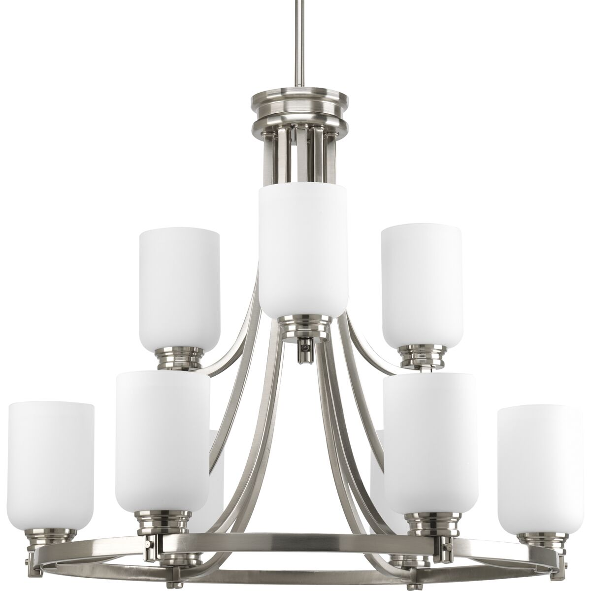 Raynard 9-Light Shaded Chandelier Finish: Brushed Nickel