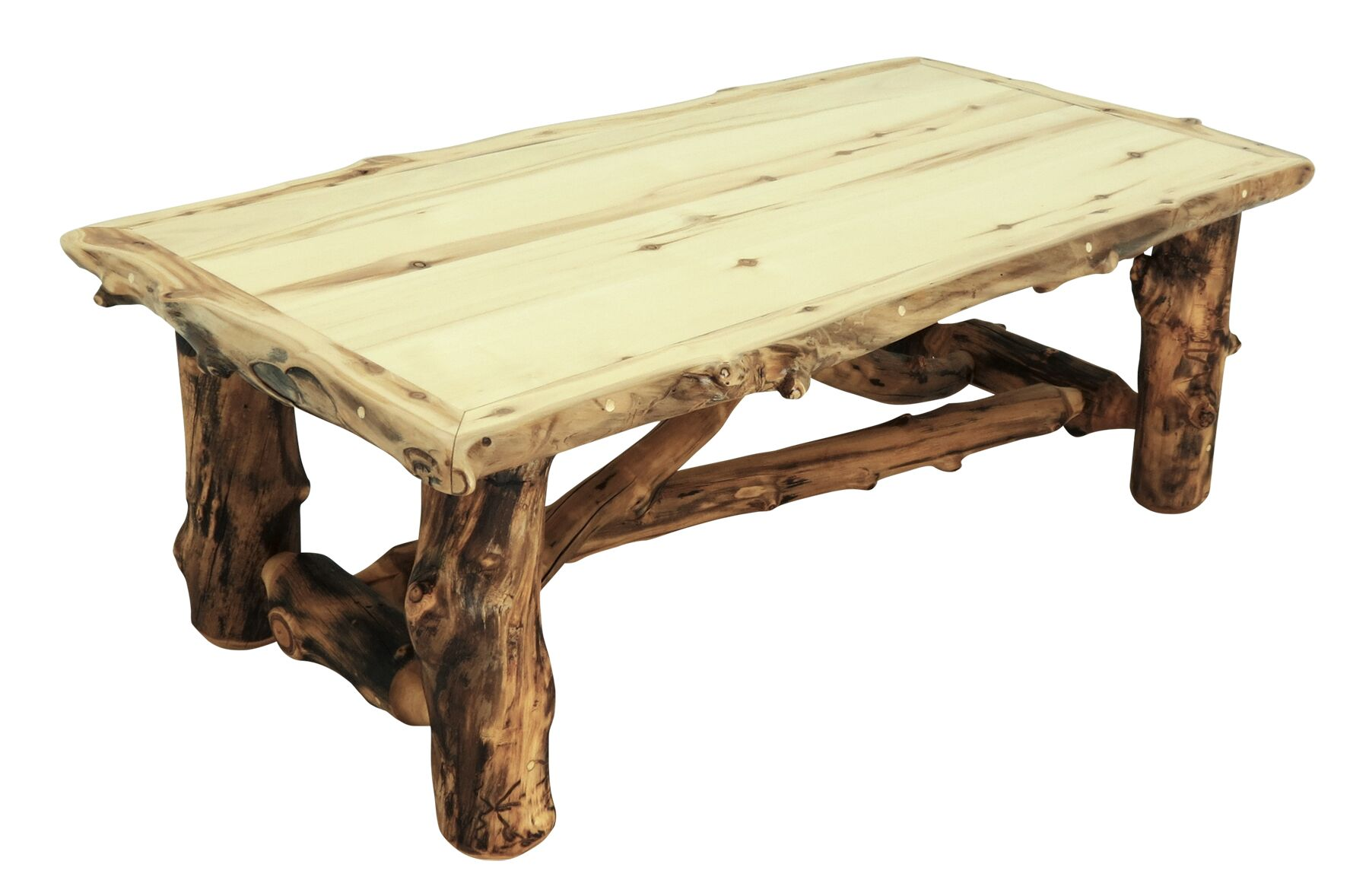 Aspen Grizzly Coffee Table Color: Golden Poly