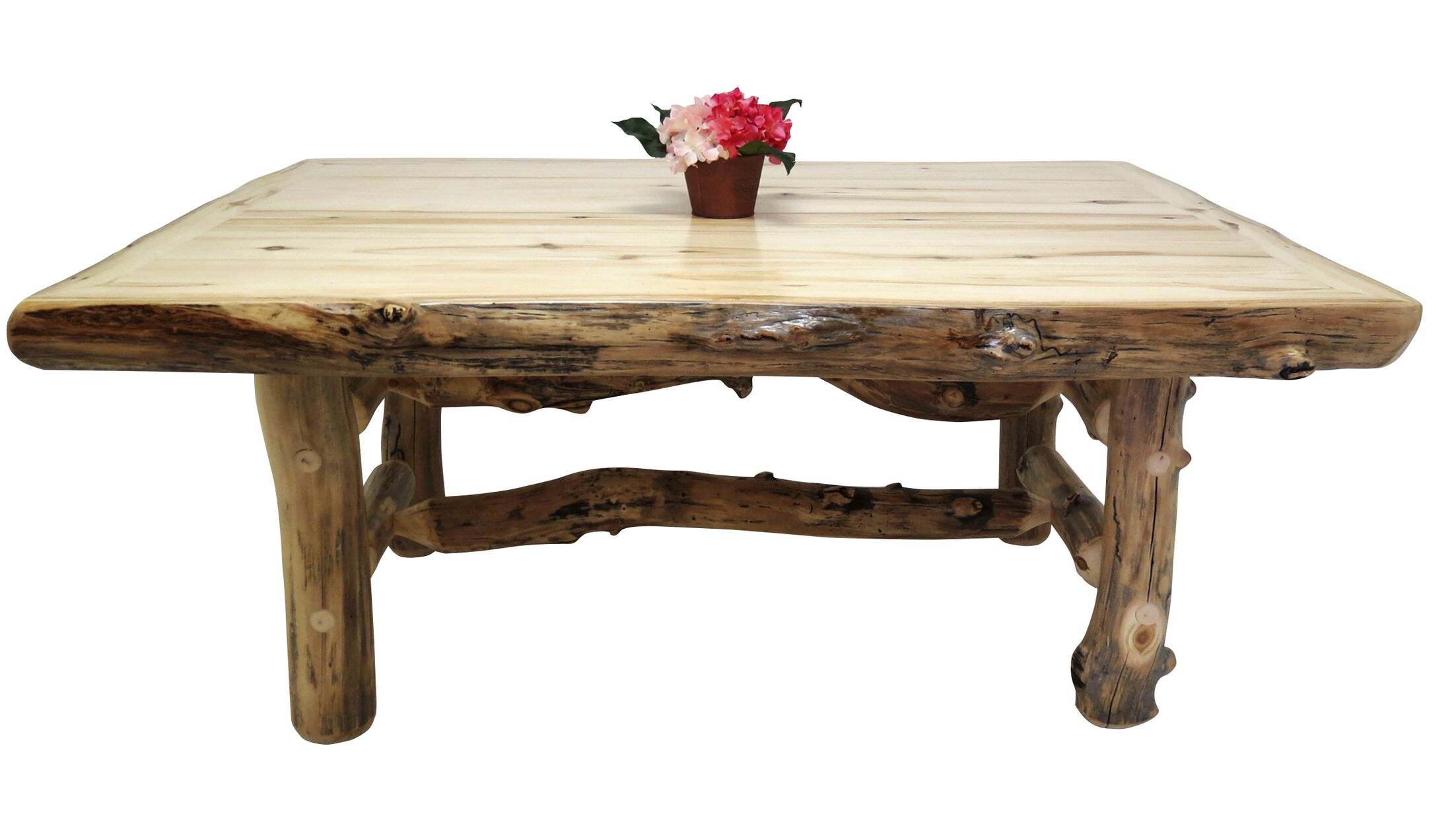 Aspen Grizzly Solid Wood Dining Table Finish: Golden Poly, Size: 30