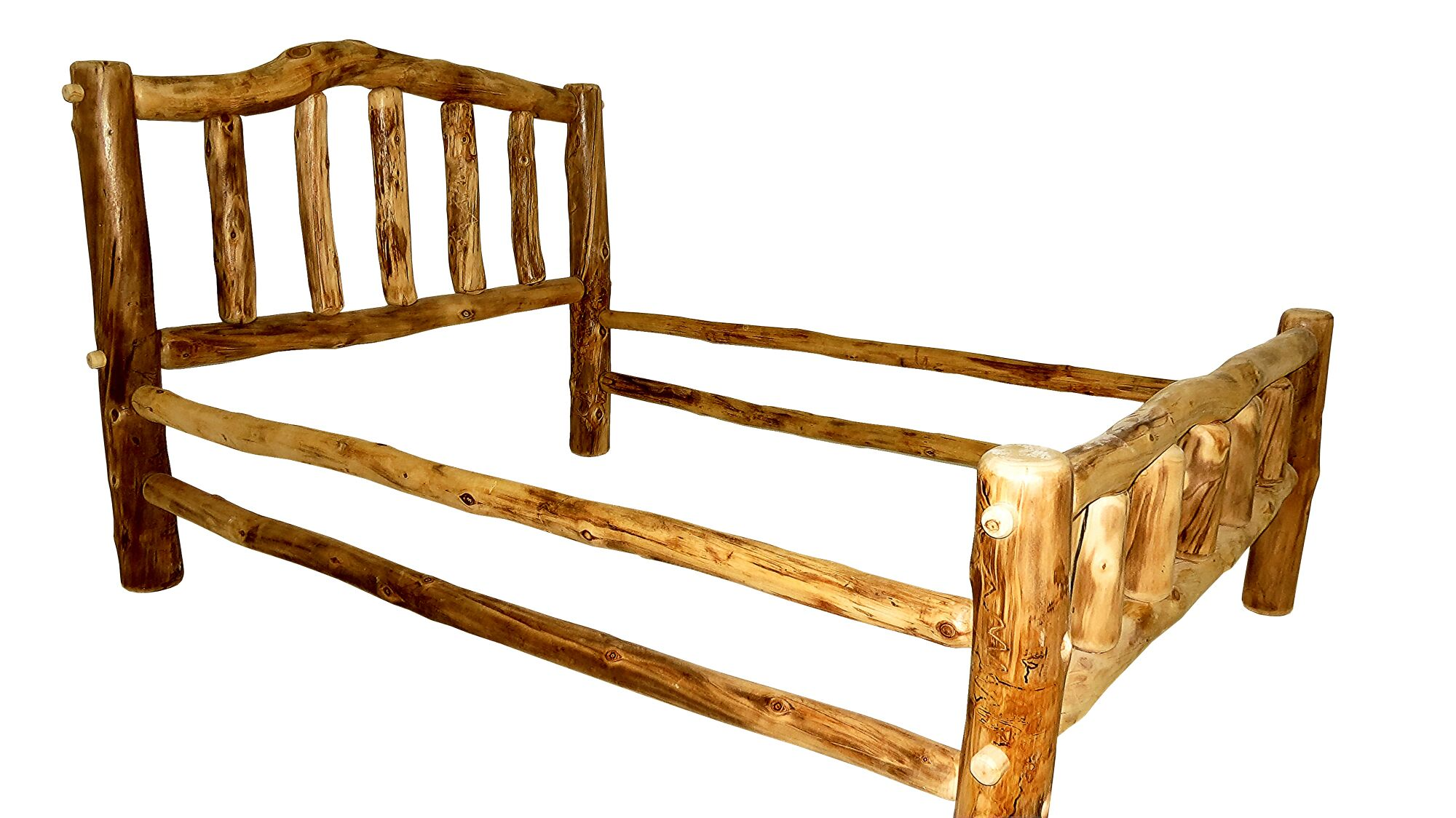 Rustic Arts� Platform Bed Color: Poly, Size: Queen