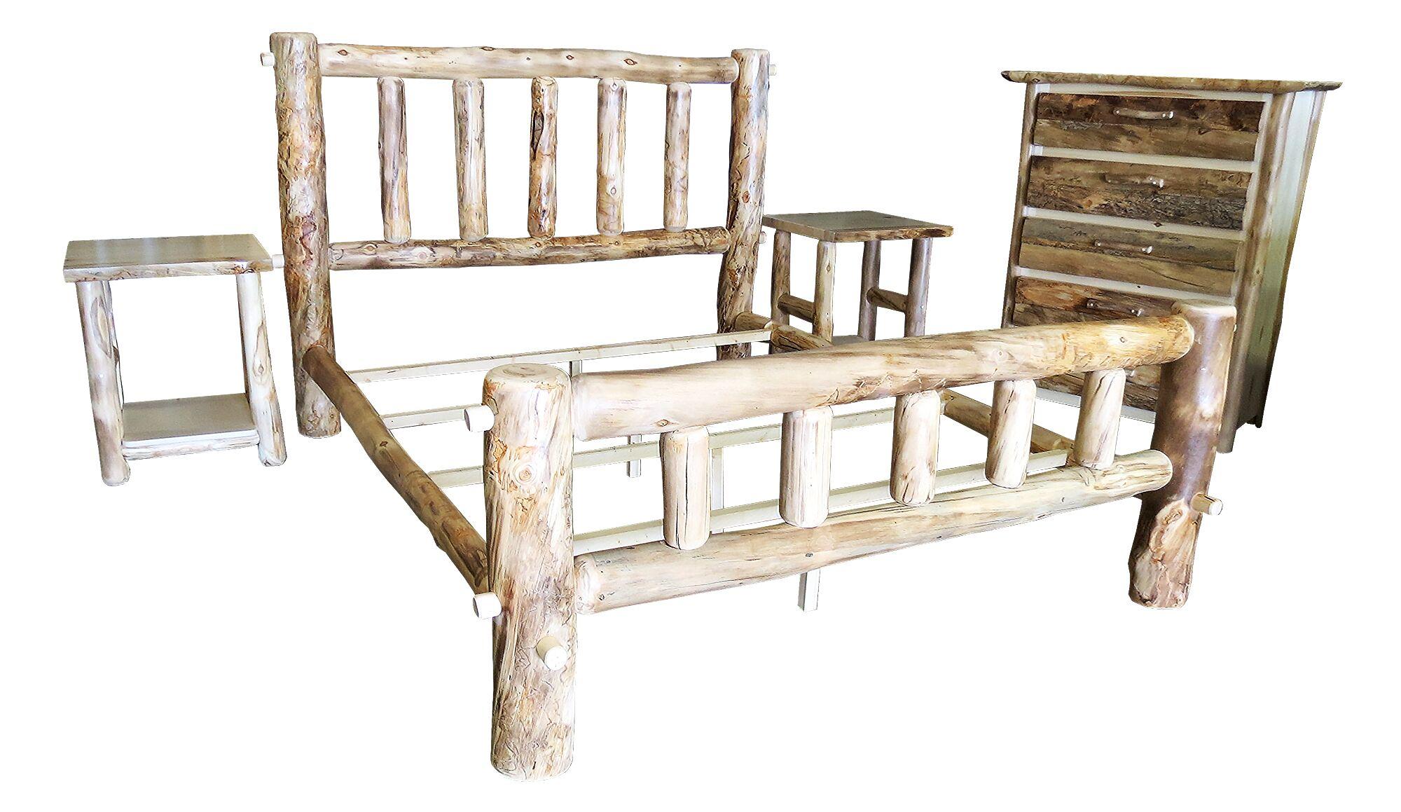 Rustic Arts� Platform 4 Piece Bedroom Set Size: Queen, Finish: Poly