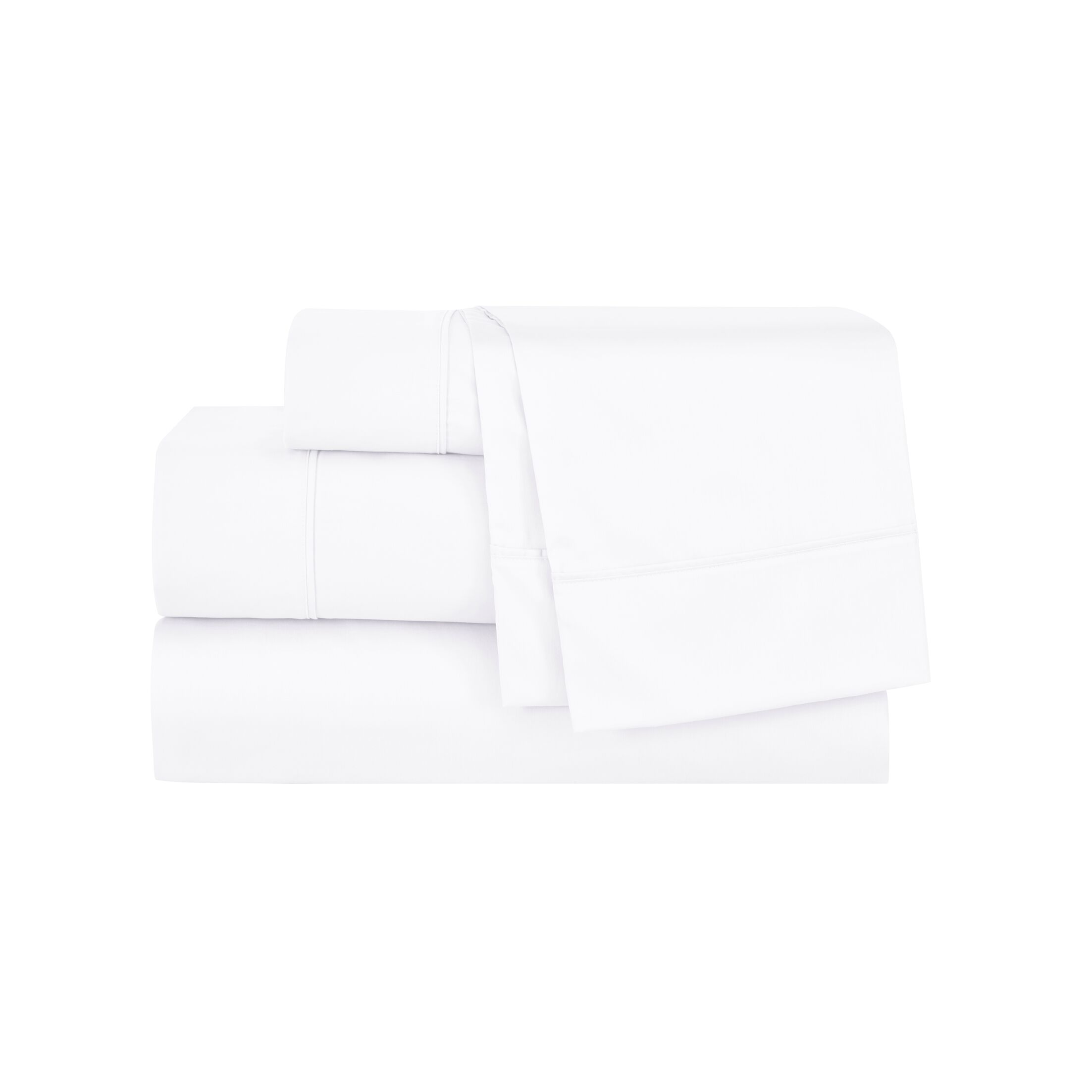 Henry Pillow Case Size: King, Color: White