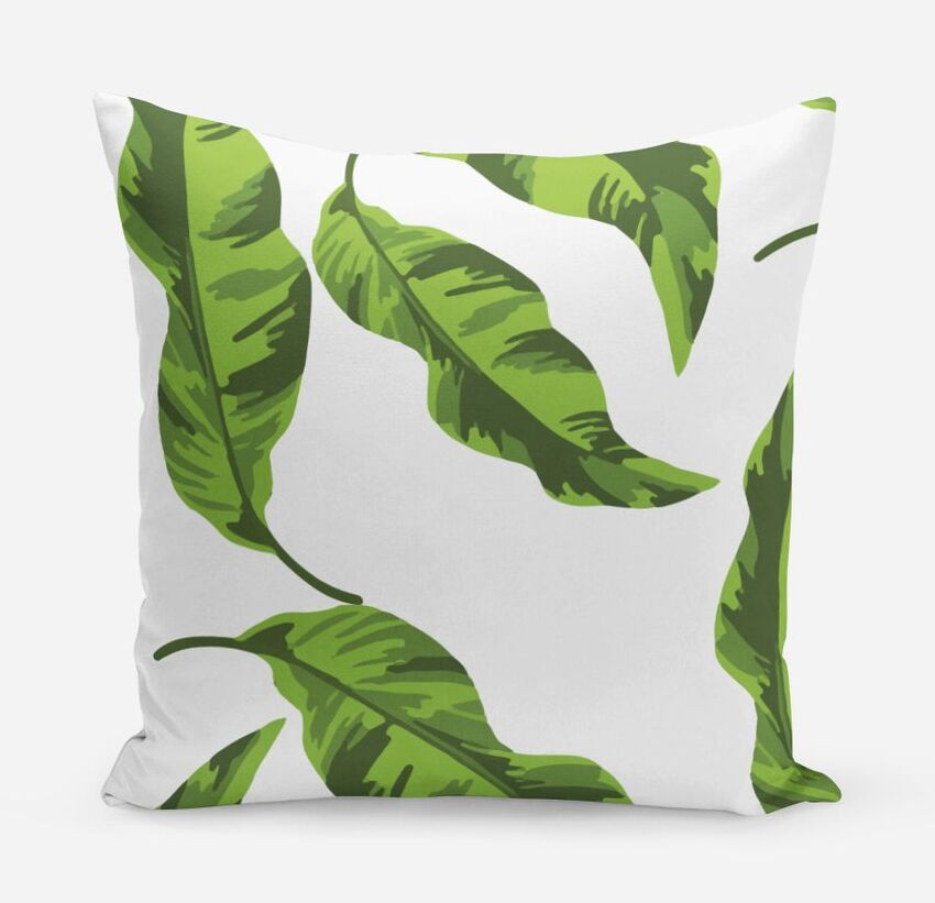 Banana Leaves Cotton Throw Pillow Size: 20