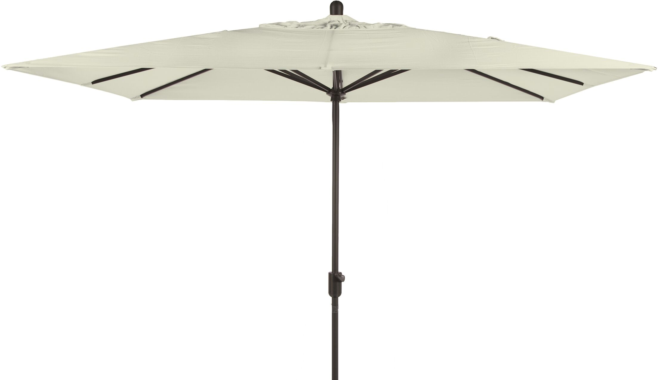 Centers 10' X 6.5' Rectangular Market Umbrella Fabric: Natural