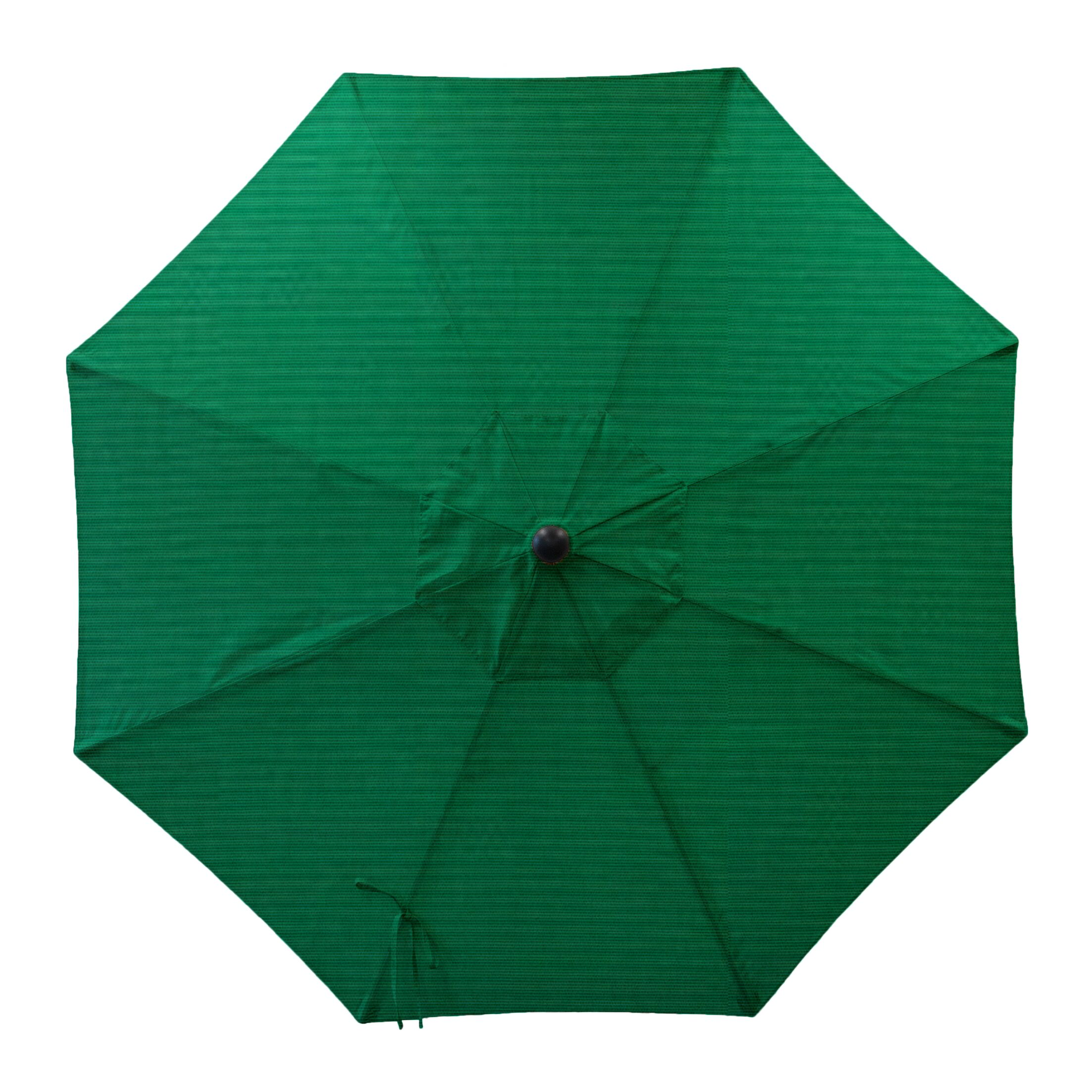 Centeno Double Pulley 9' Market Umbrella Fabric Color: Forest Green, Frame Color: Silver Mirror