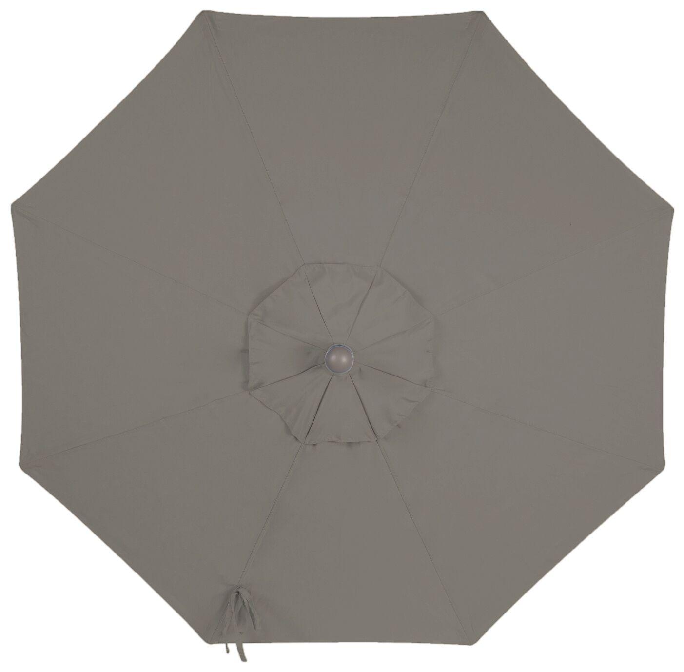 Centeno Double Pulley 9' Market Sunbrella Umbrella Fabric Color: Graphite, Frame Color: Silver Mirror