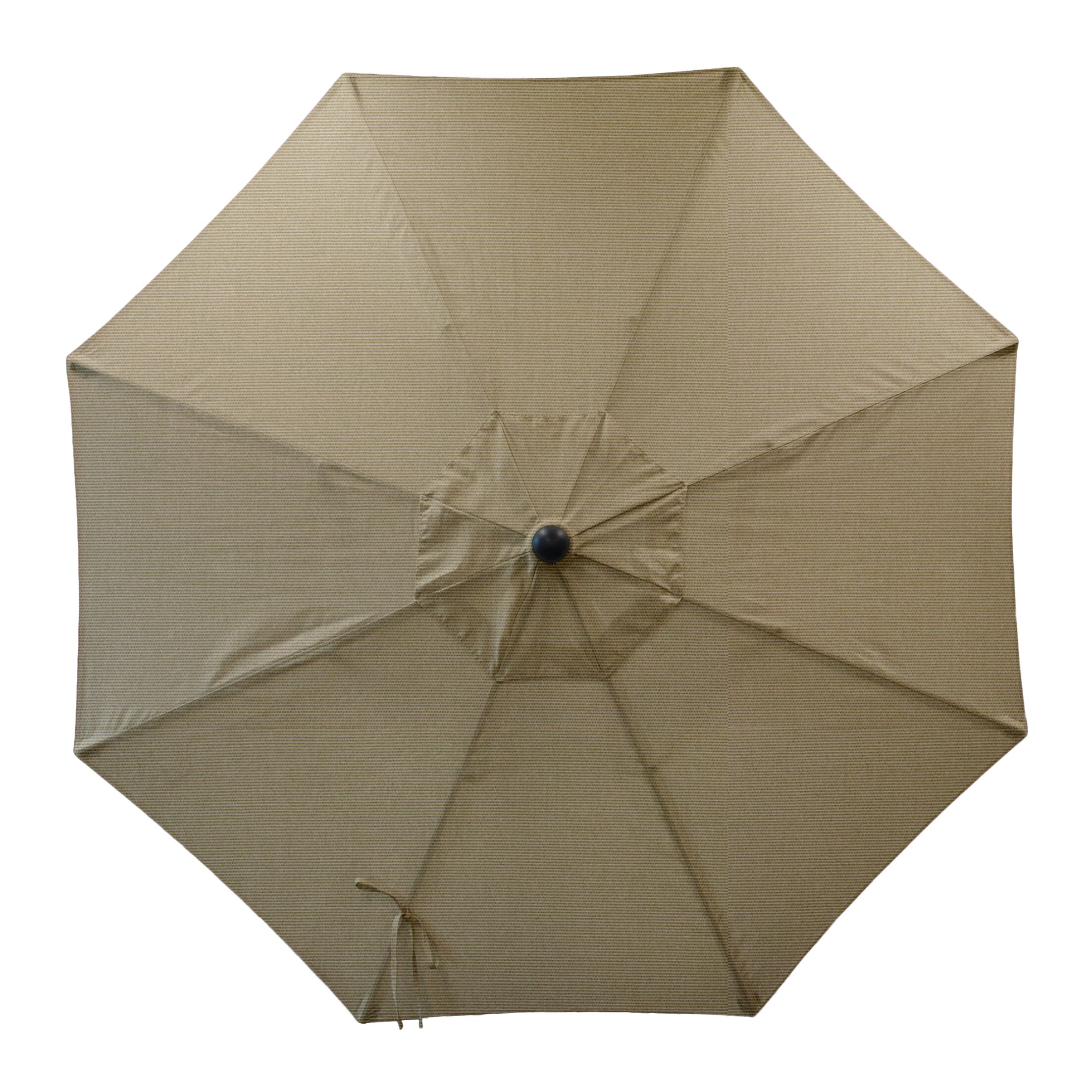 Centeno Double Pulley 9' Market Sunbrella Umbrella Fabric Color: Antique Beige, Frame Color: Silver Mirror