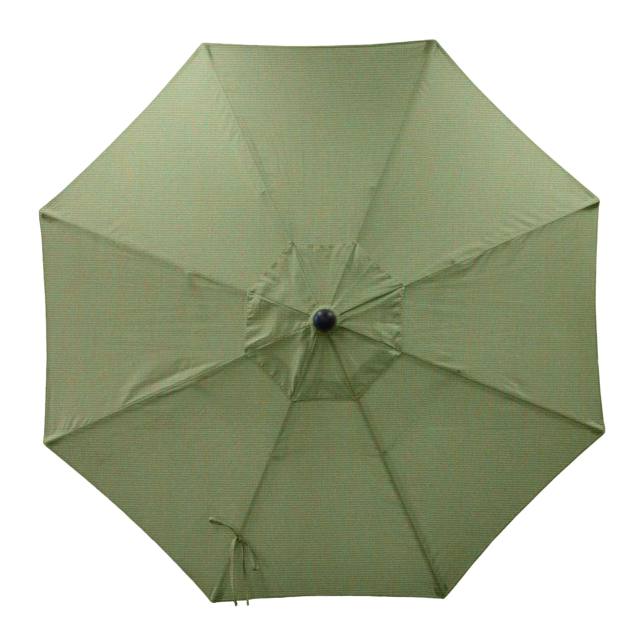 Centeno Double Pulley 9' Market Sunbrella Umbrella Fabric Color: Fern, Frame Color: Silver Mirror