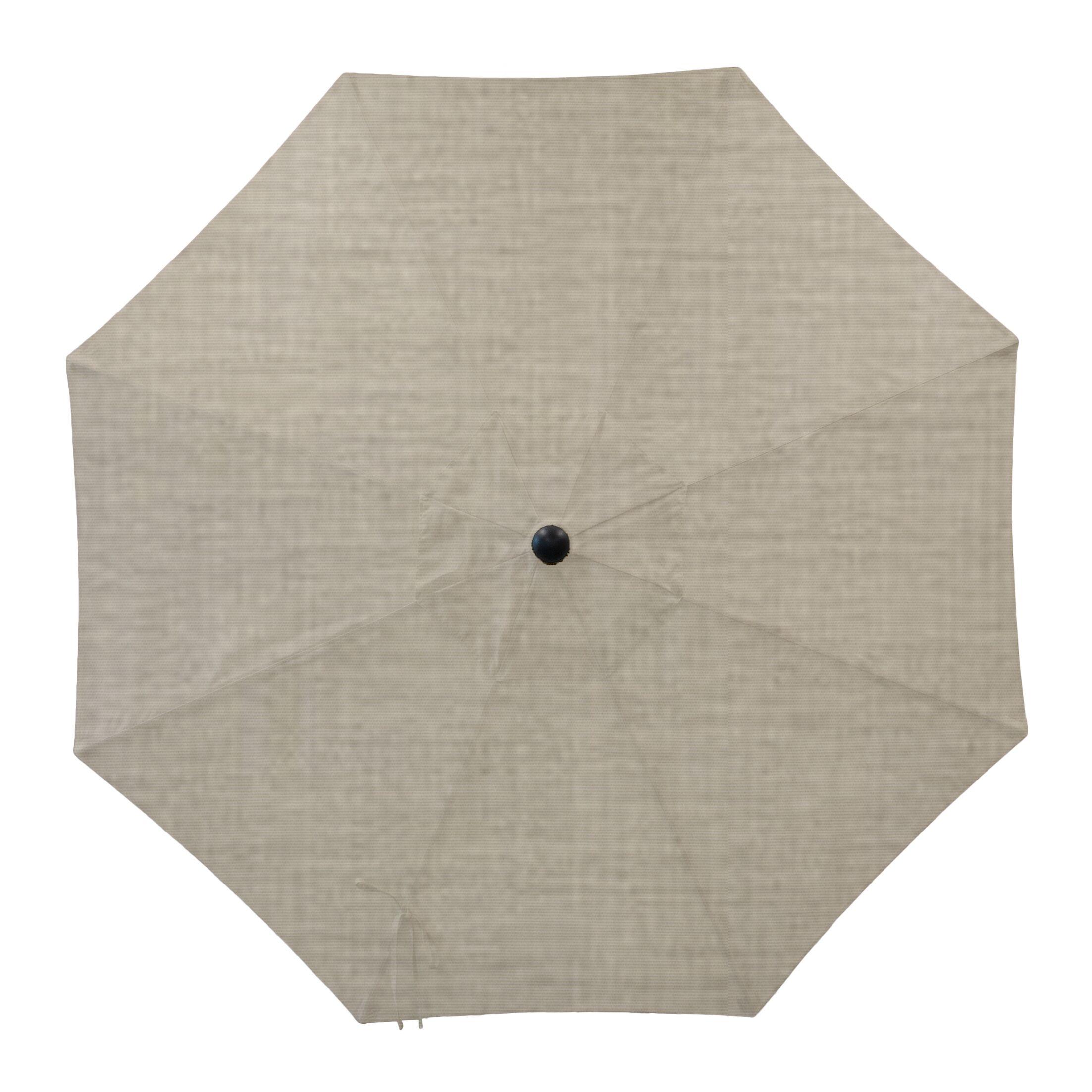 Centeno Double Pulley 9' Market Sunbrella Umbrella Fabric Color: Cast Silver, Frame Color: Silver Mirror