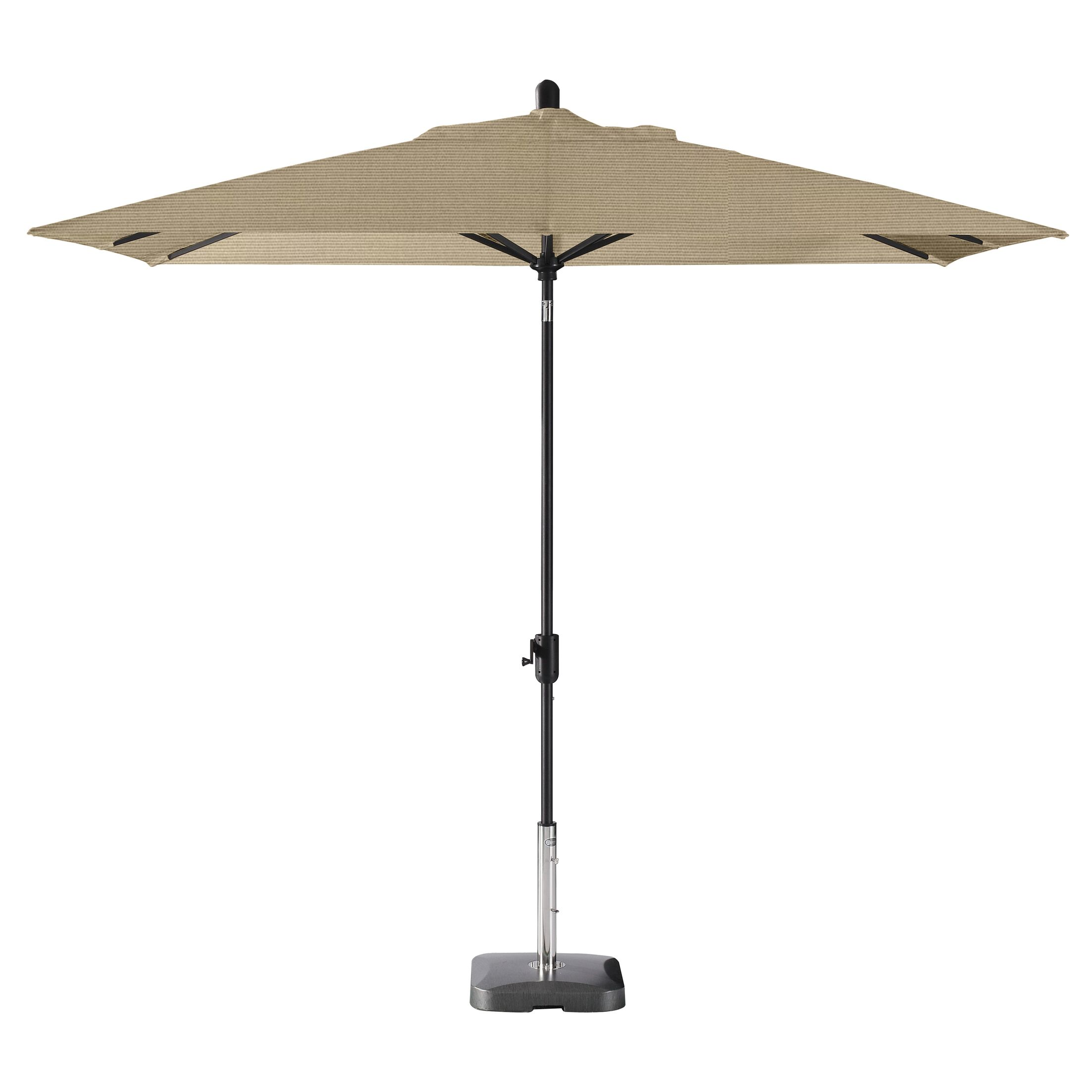 Wieczorek Auto Tilt 10' x 6.5' Rectangular Market Sunbrella Umbrella Fabric Color: Cocoa