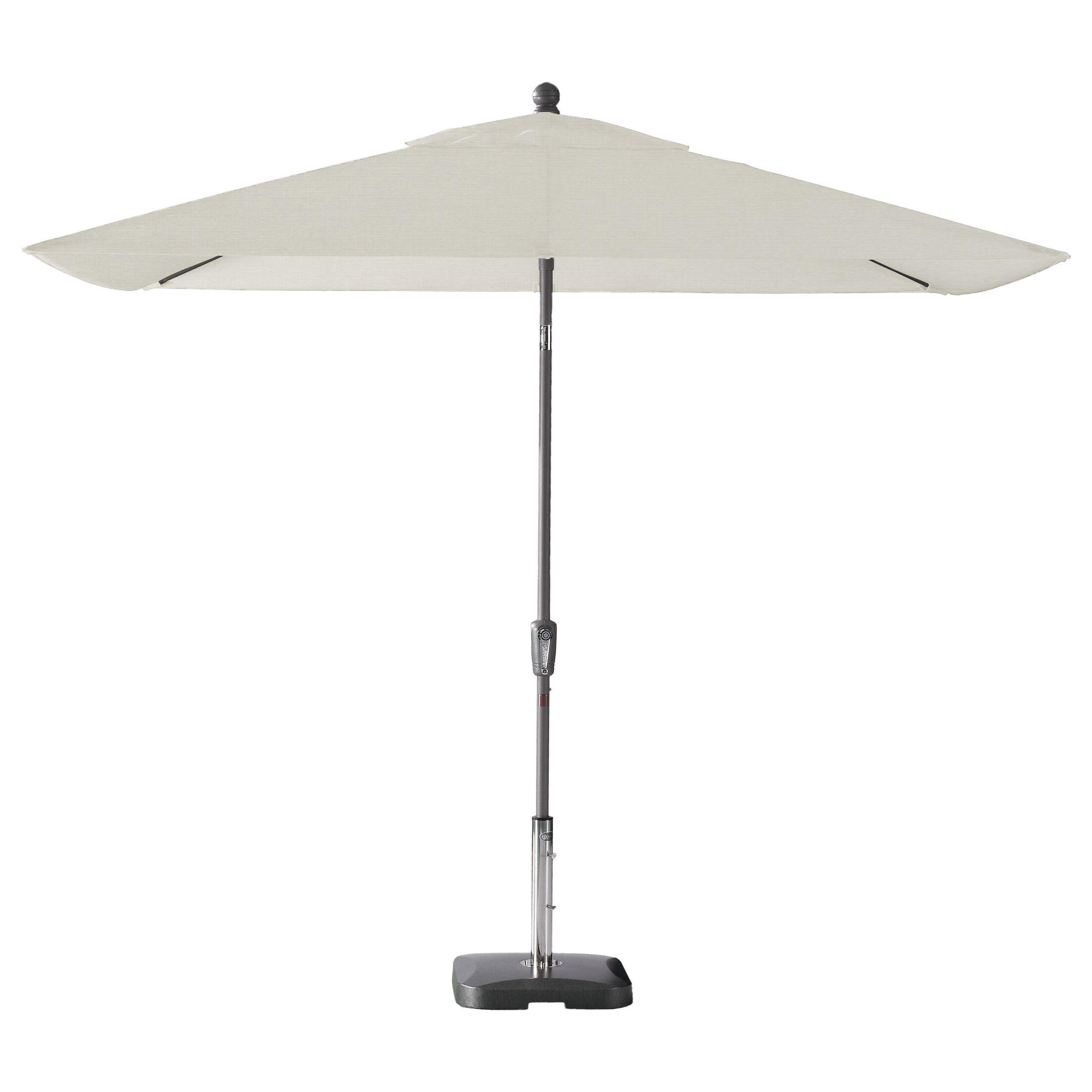 Wiechmann Push Tilt 9' x 7' Rectangular Market Umbrella Frame Color: Starring Gray