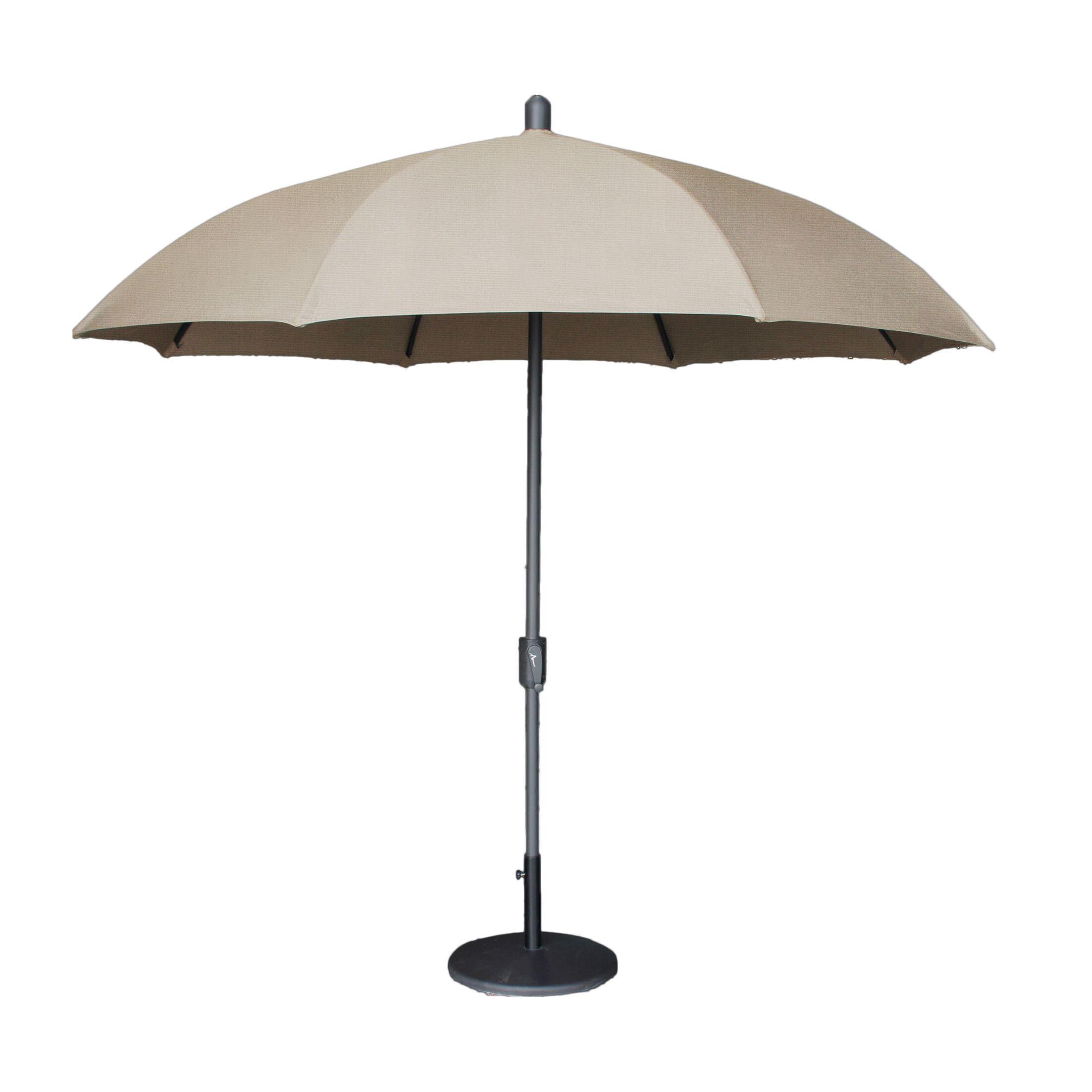 Mariam Dome 8.5' Market Sunbrella Umbrella Fabric Color: Taupe