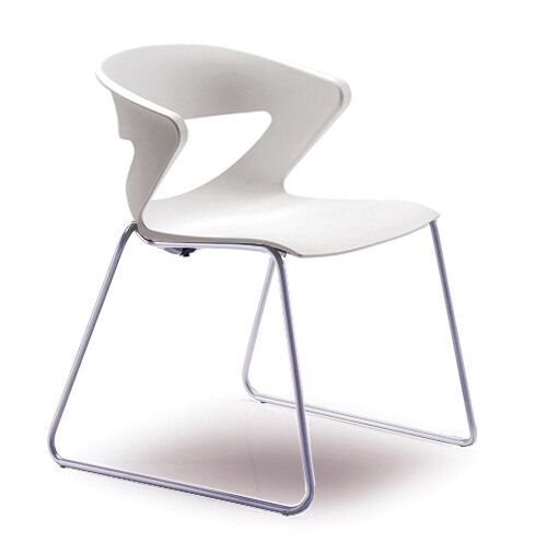 Kreature Sled Base Guest Chair Seat Color: White