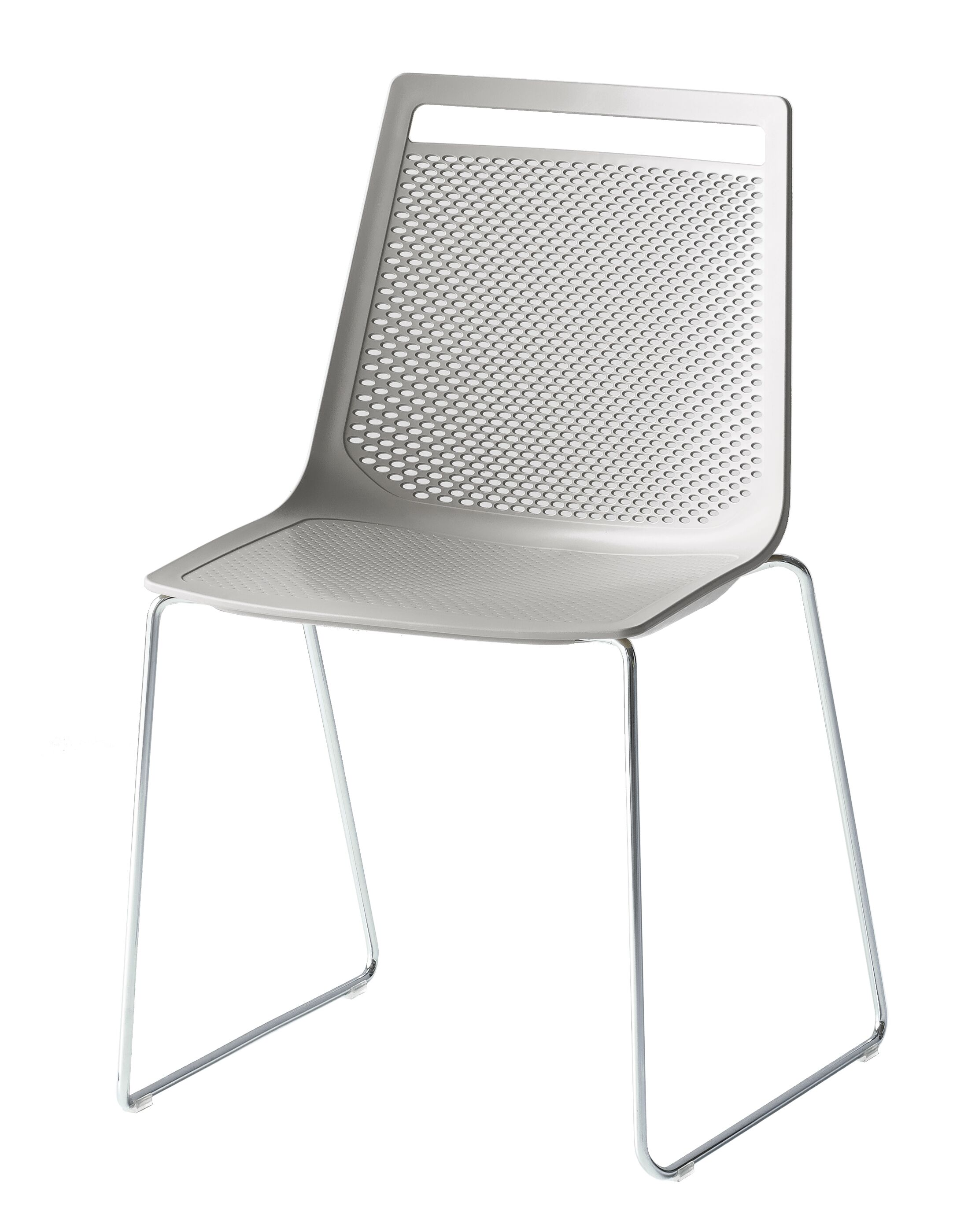 Akami Sled Base Guest Chair Seat Color: Gray