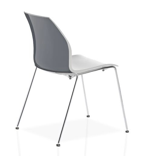 Vortex 4 Leg Guest Chair Seat Color: Gray/White